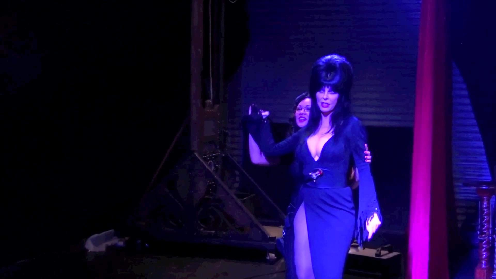 Michelle Nyree teaches Elvira, Mistress of the Dark how to Crack a Whip!