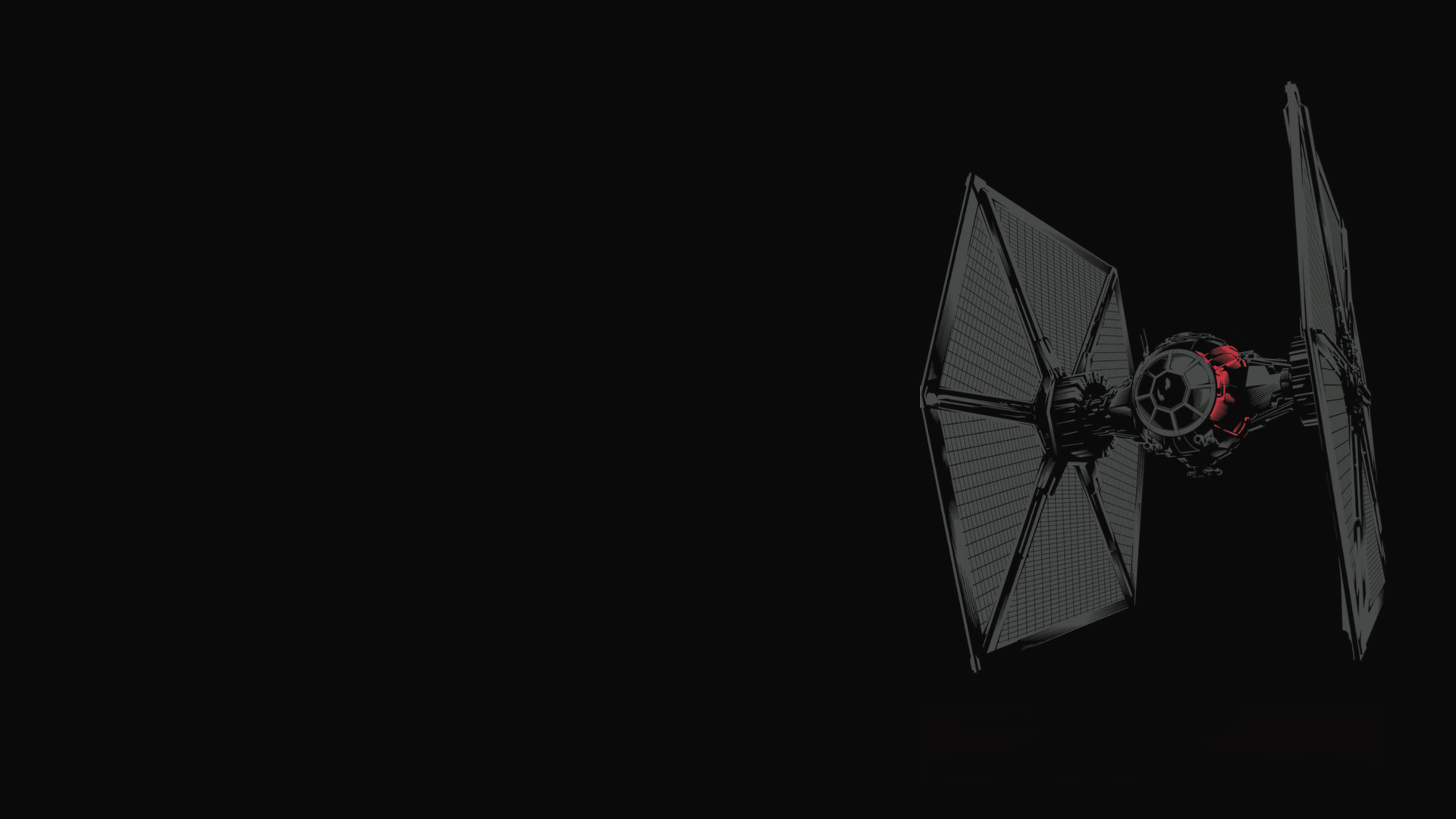 I made a wallpaper out of that TIE Fighter image from the toy leak. Enjoy!