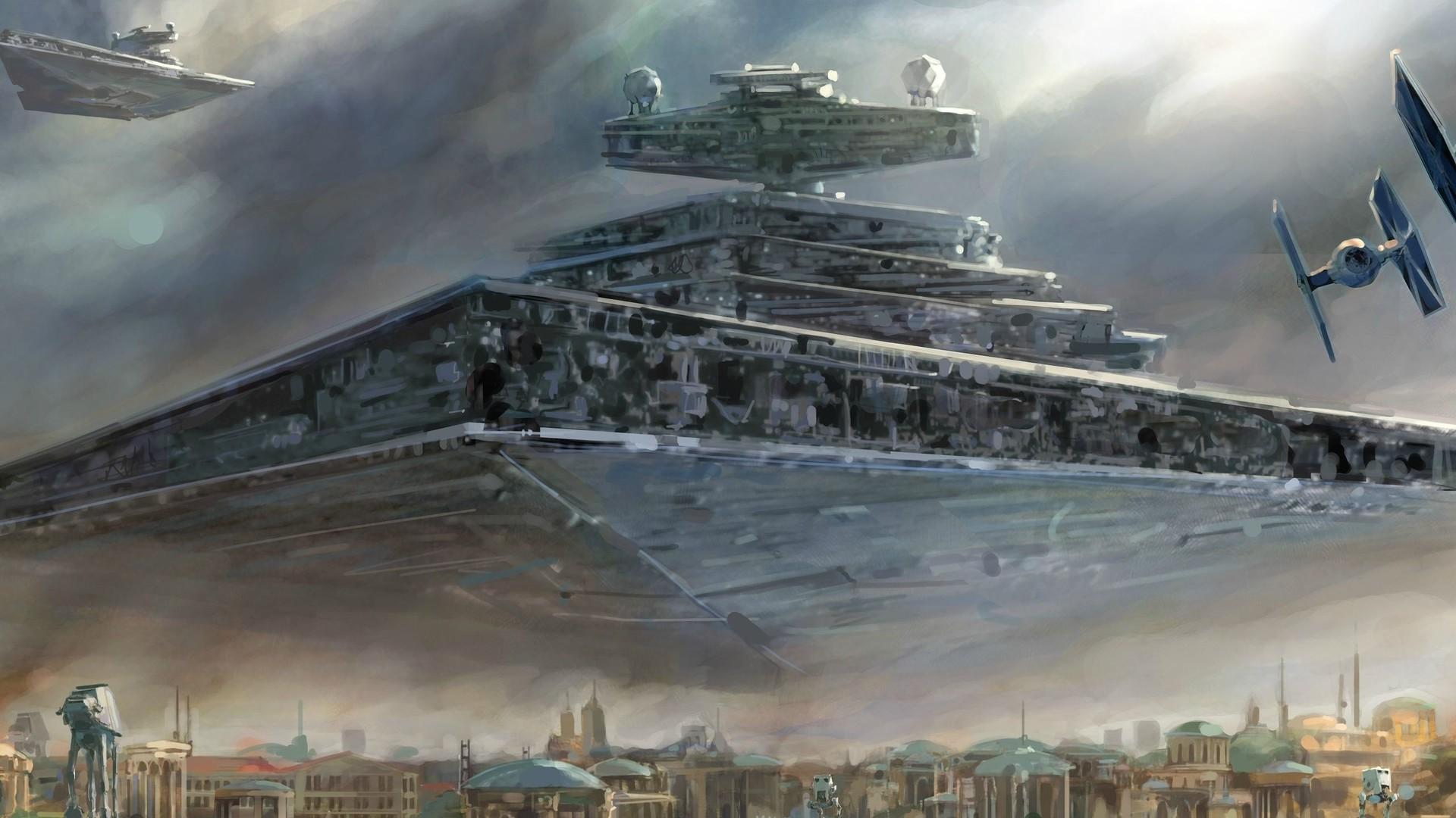 Description: Download Star wars spaceships atat artwork vehicles tie  fighters star wallpaper/desktop background in HD & Widescreen  resolution.