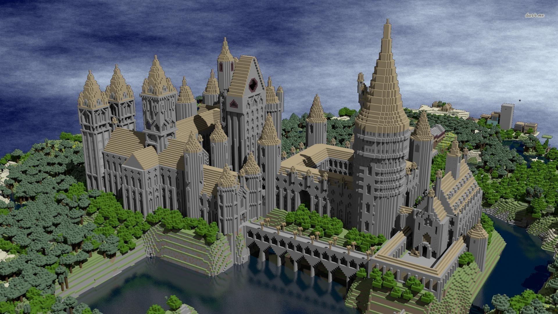 Hogwarts castle – Minecraft Game HD desktop wallpaper, Minecraft wallpaper  – Games no.