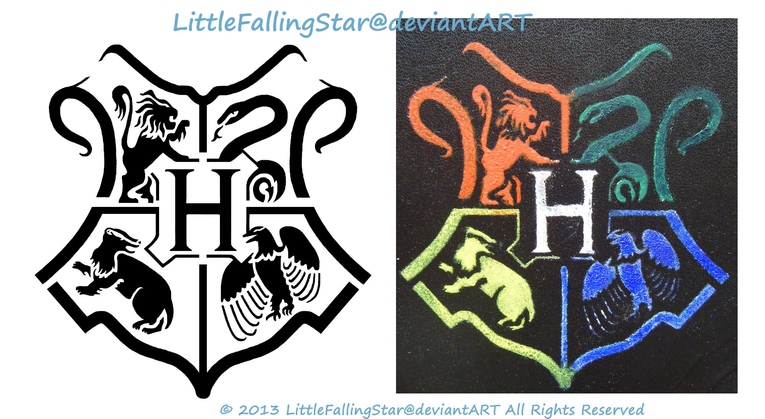 Hogwarts stencil by LittleFallingStar Hogwarts stencil by LittleFallingStar