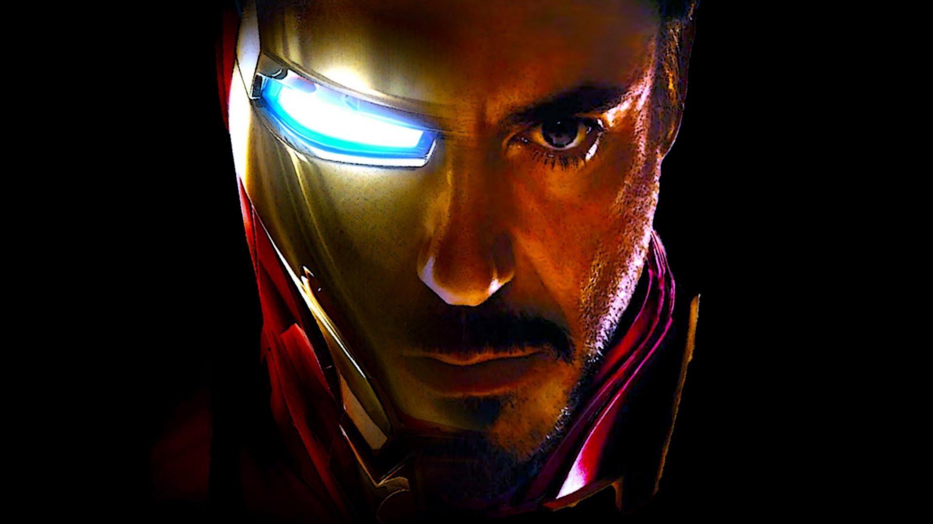 … Iron Man Wallpaper – Face of Iron Man and Tony Stark (Robert Downey Jr.  …