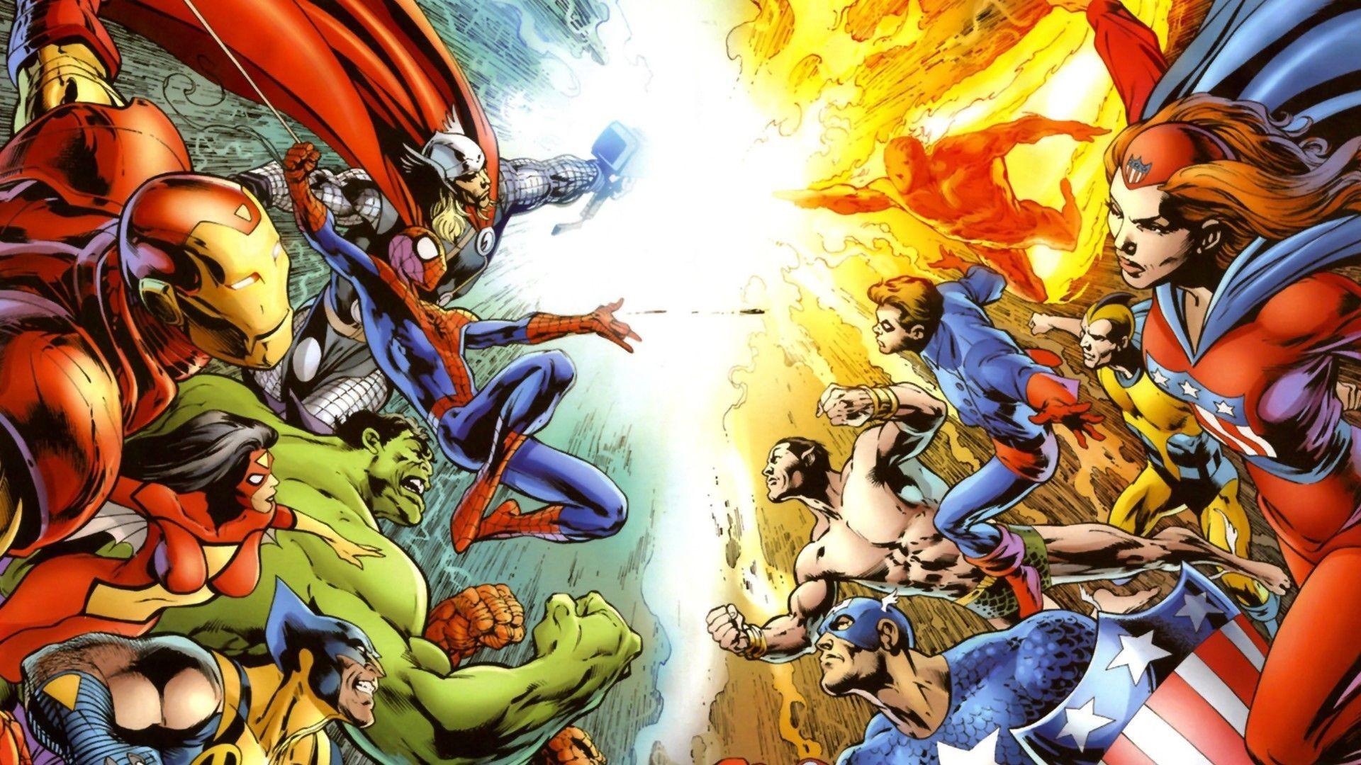 Sexy Superhero Wallpaper × Superhero Wallpaper