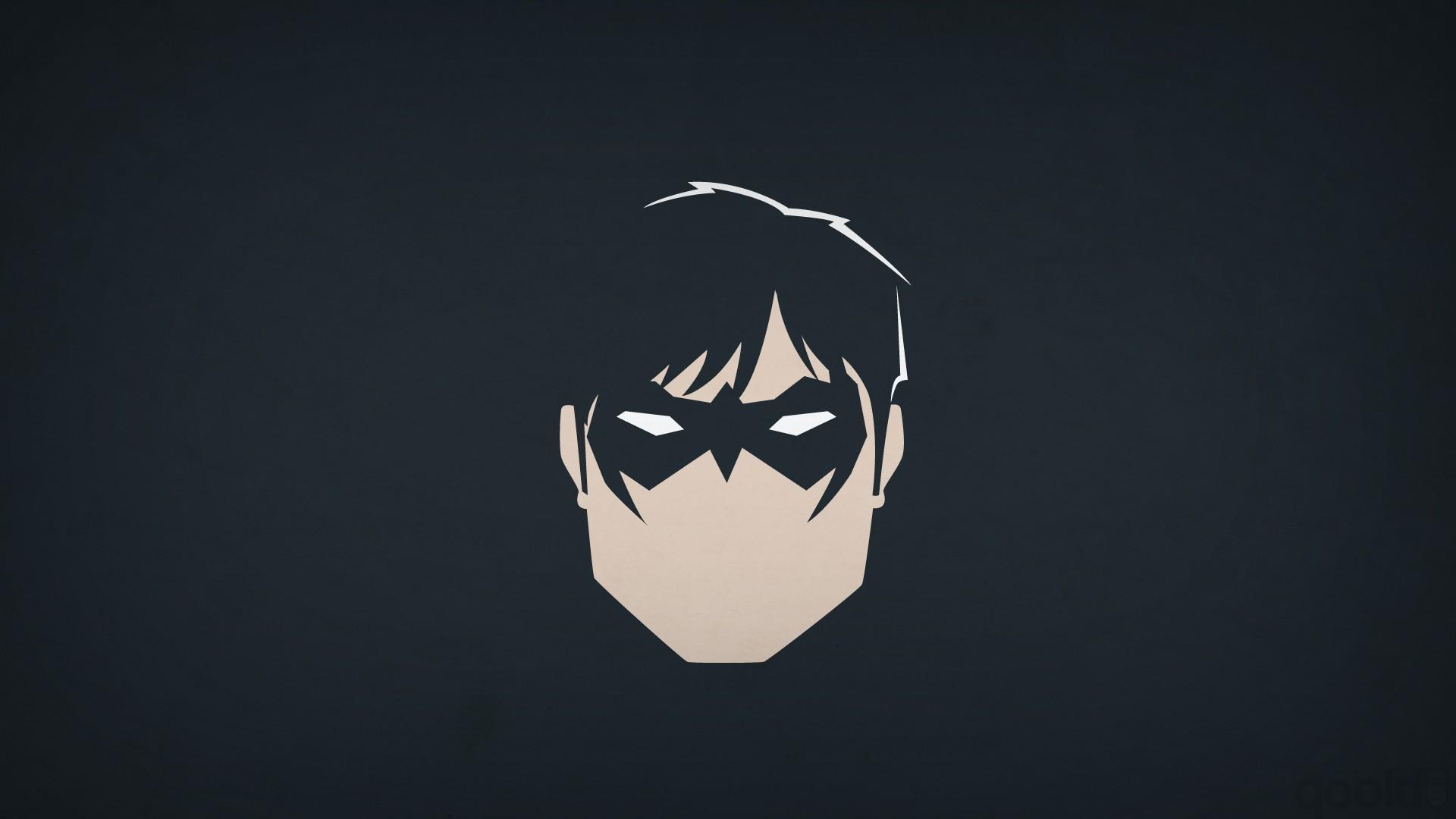 DC Comics, Heroes, Nightwing, Blo0p, Minimalism, Superhero Wallpapers HD /  Desktop and Mobile Backgrounds