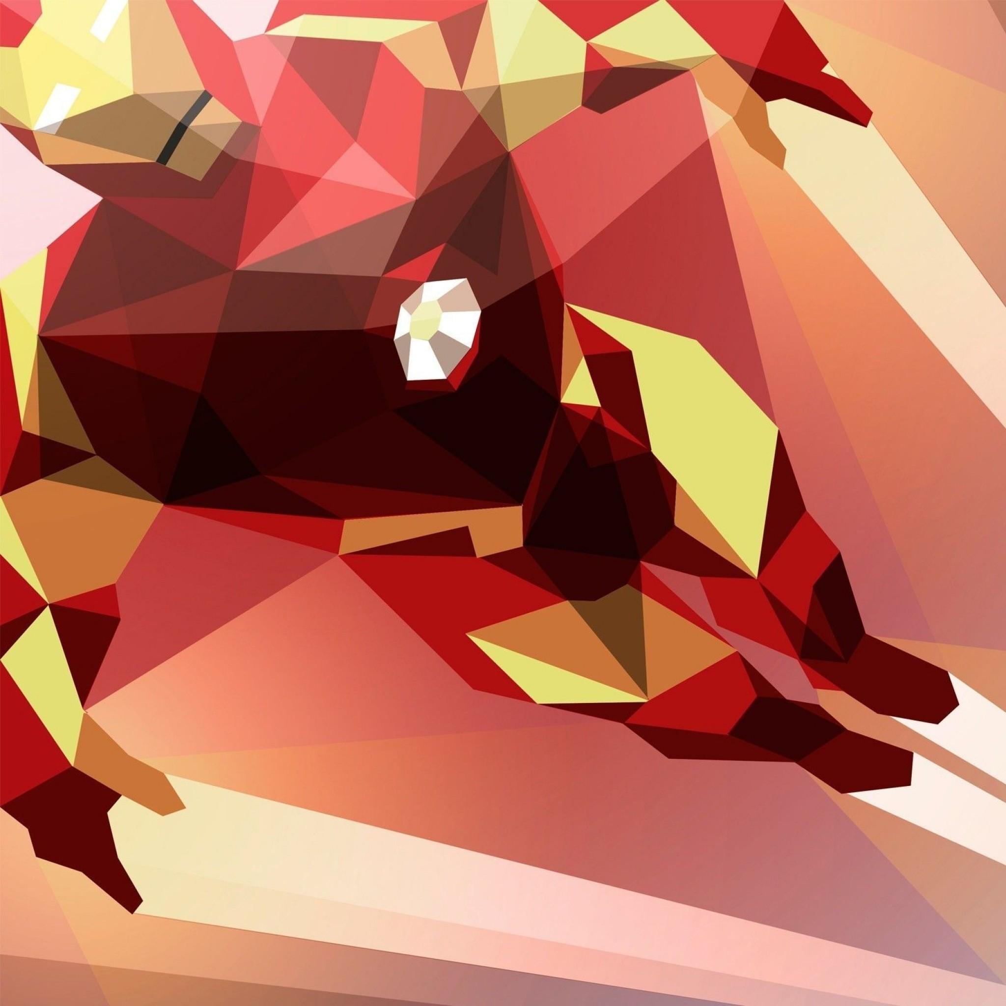 Preview wallpaper superhero, iron man, bright 2048×2048