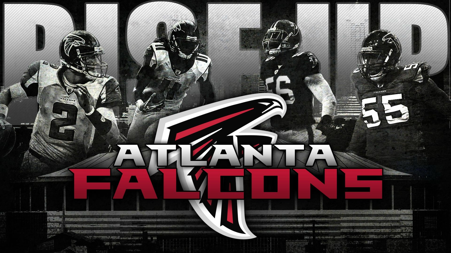 RISE UP FALCONS!! wallpaper i made for the playoffs. – Imgur