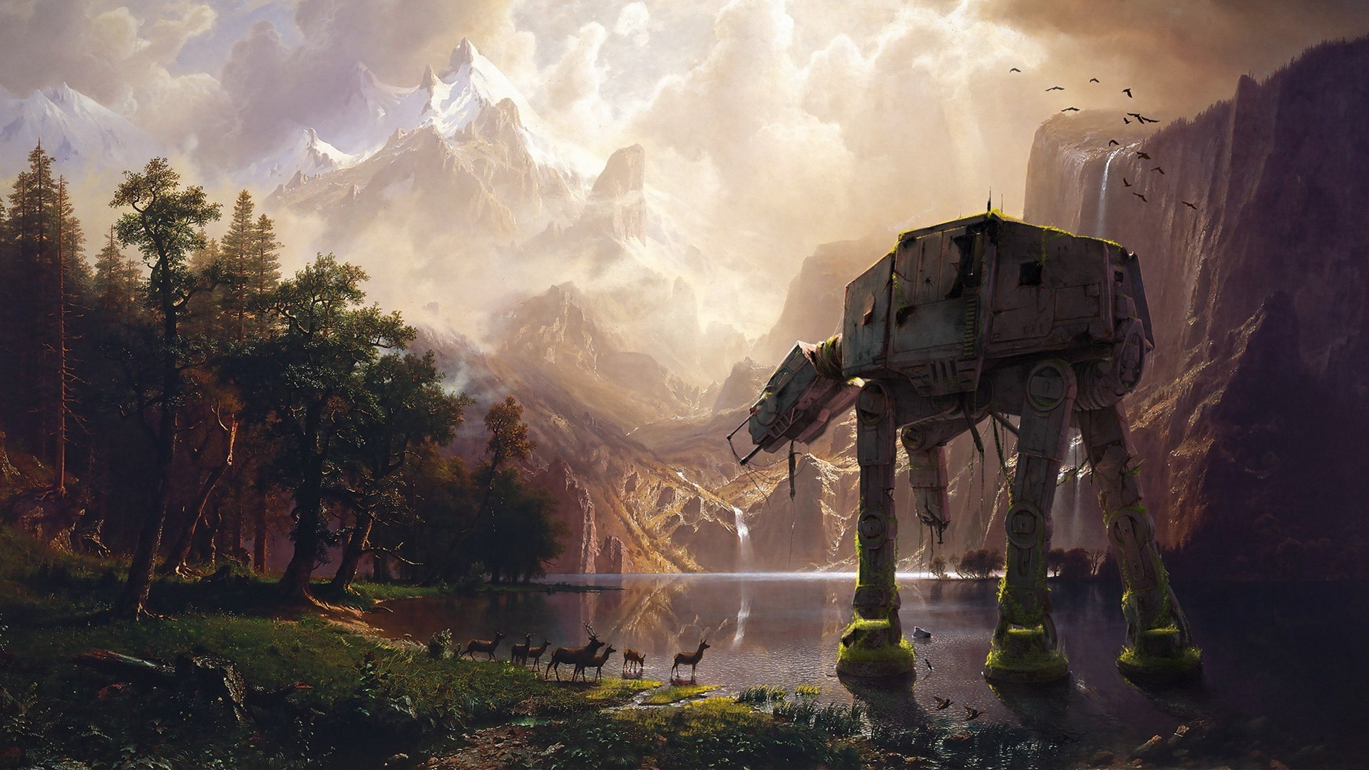 Star Wars, AT AT, Abandoned Wallpapers HD / Desktop and Mobile Backgrounds