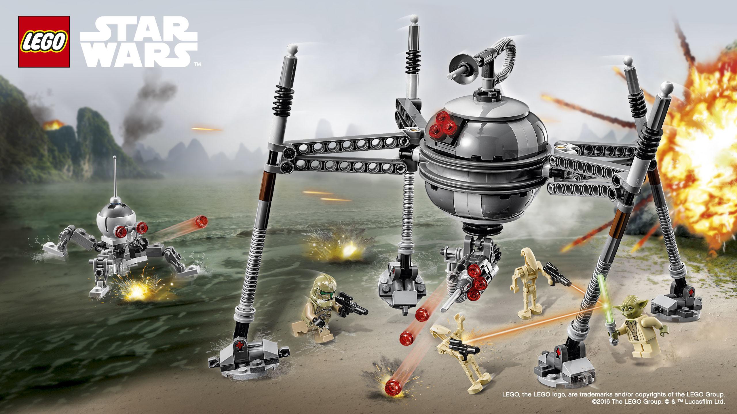 Landscape · Vertical. Download the LEGO Star Wars 75142 Homing Spider  Droid™ Wallpaper