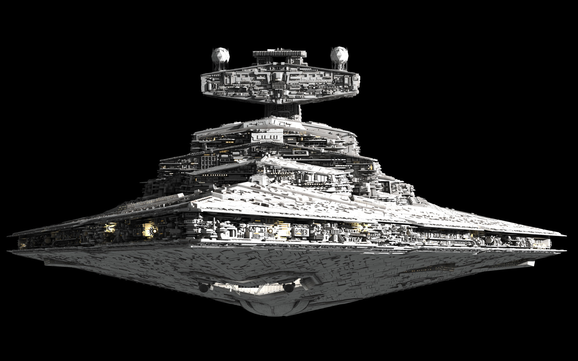 An Imperial-class Star Destroyer. Why do the bad guys always get the  coolest stuff?