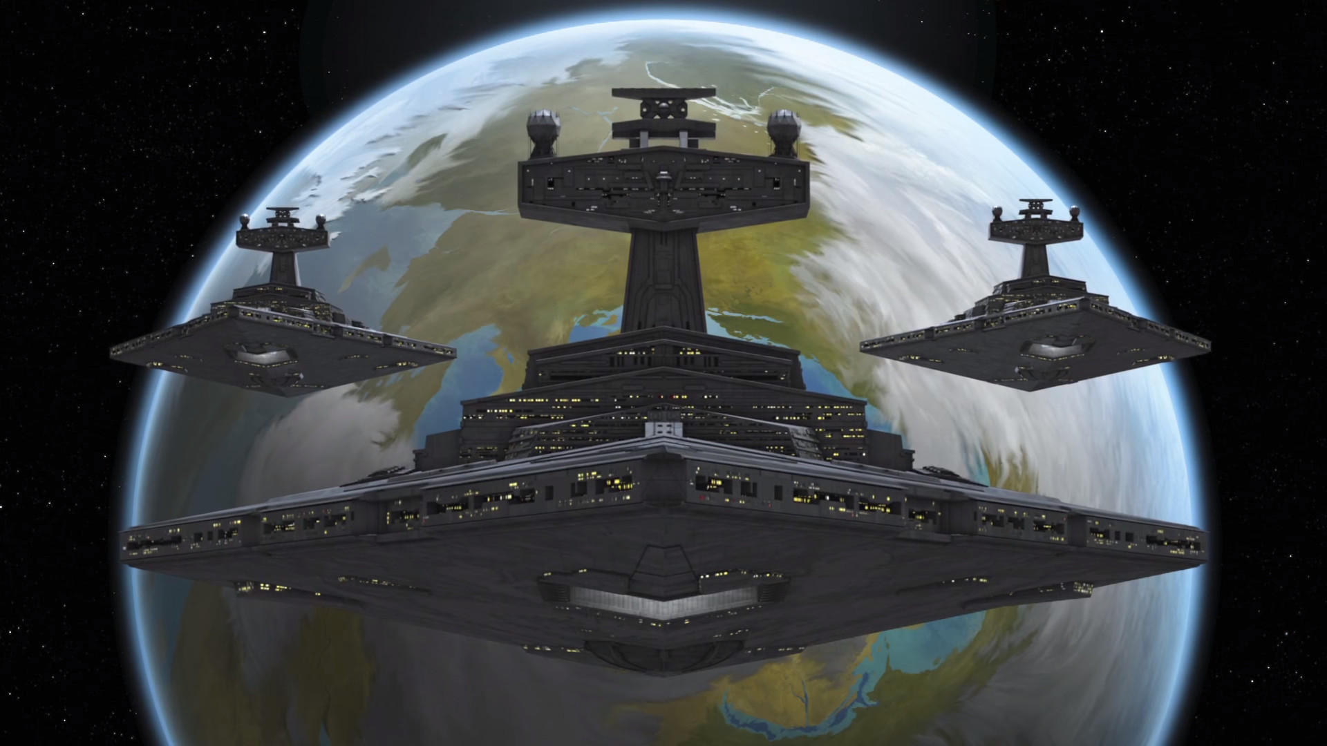 Imperial Star Destroyer Trio (1920×1080) …