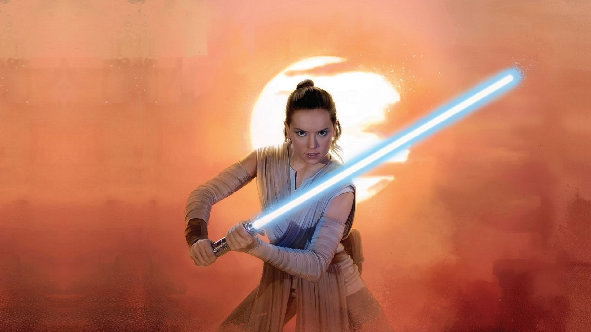 Daisy Ridley, Rey, Star Wars, Lightsaber, Jedi Wallpapers HD / Desktop and  Mobile Backgrounds