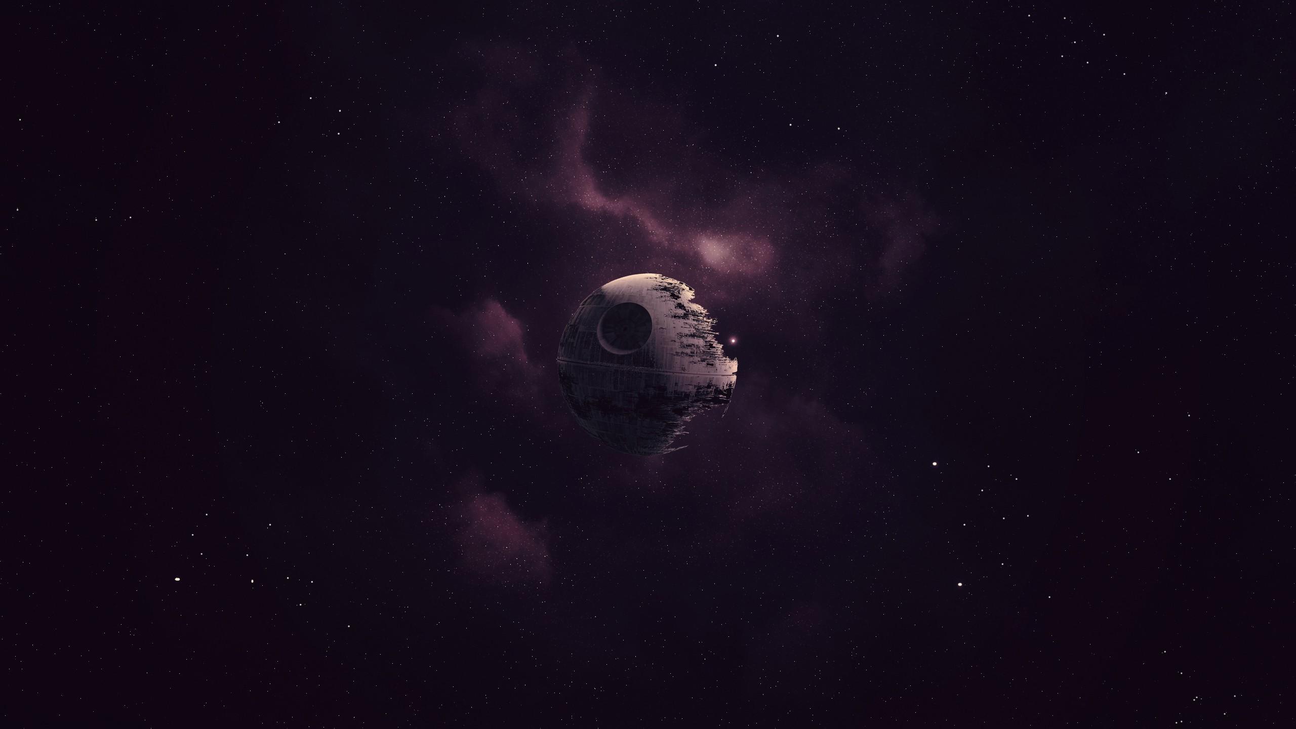 Star Wars, Death Star, Artwork, Space, Purple Wallpapers HD