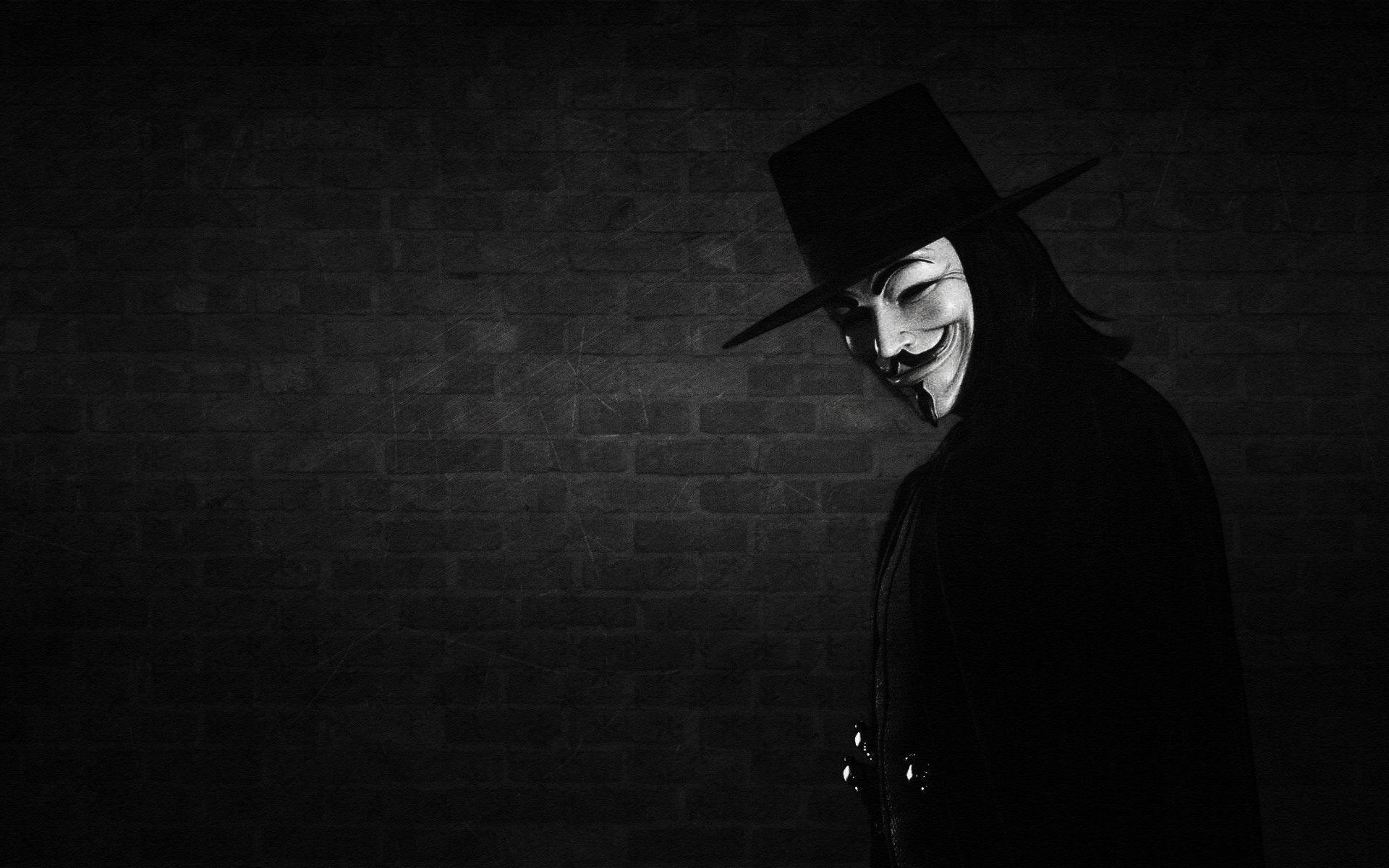 hat, wall, mask, V for vendetta wallpapers and images – wallpapers .