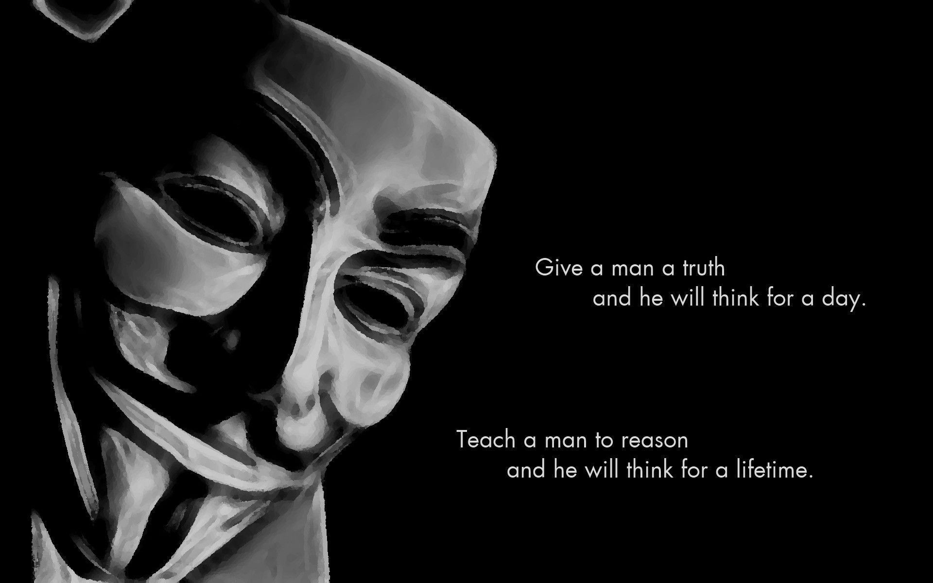 Anonymous Mask Wallpapers HD Free Download.