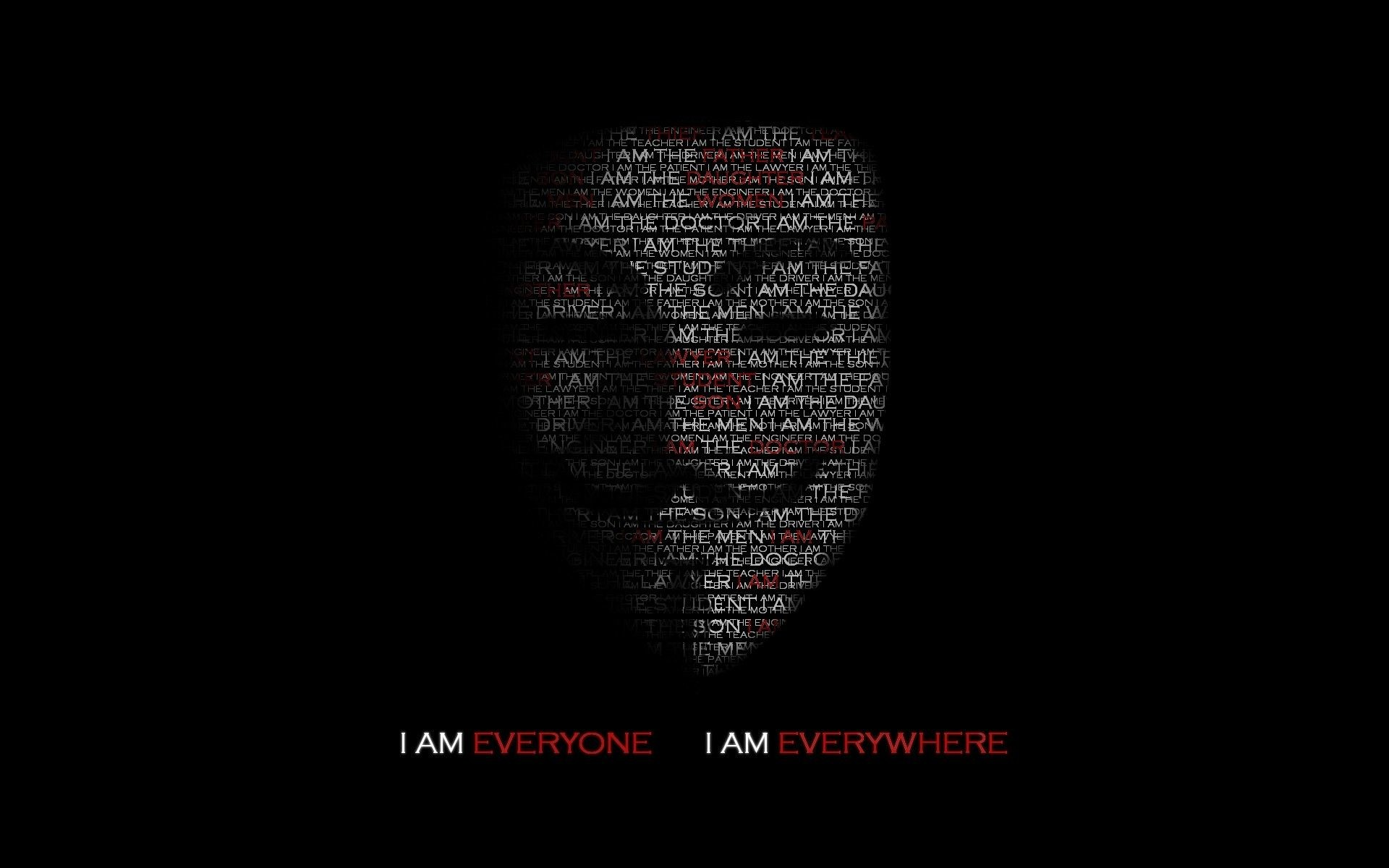 Anonymous, minimalistic, text, typography, V for Vendetta .