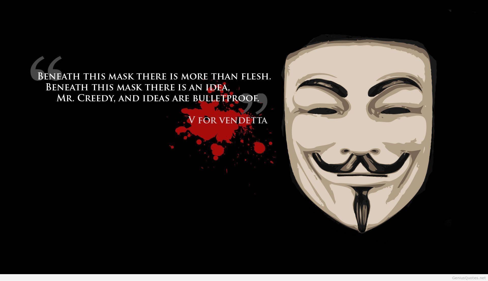 V for Vendetta Wallpaper quote