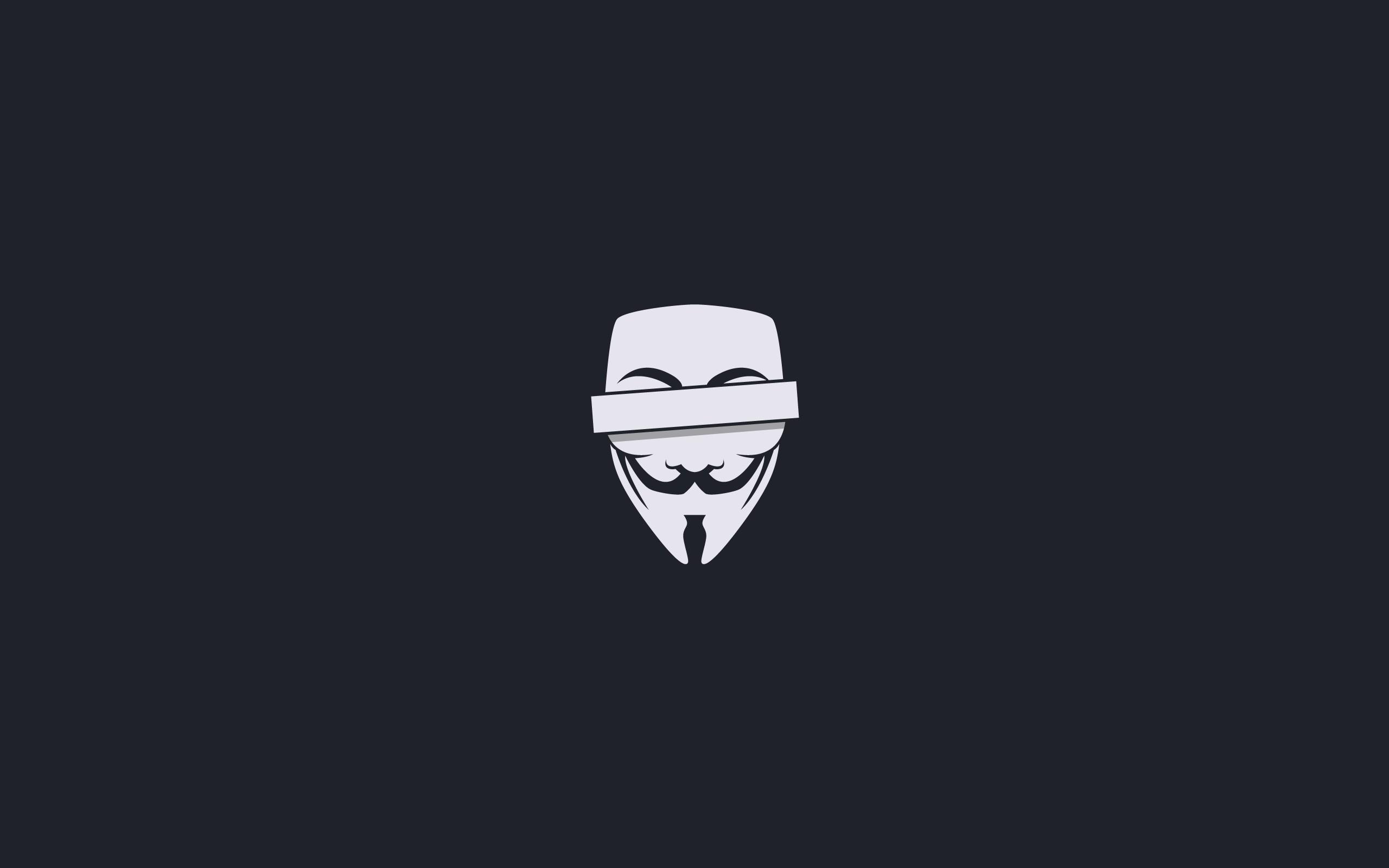 anonymous minimalistic censored masks guy fawkes v for vendetta simple  wallpaper Art HD Wallpaper