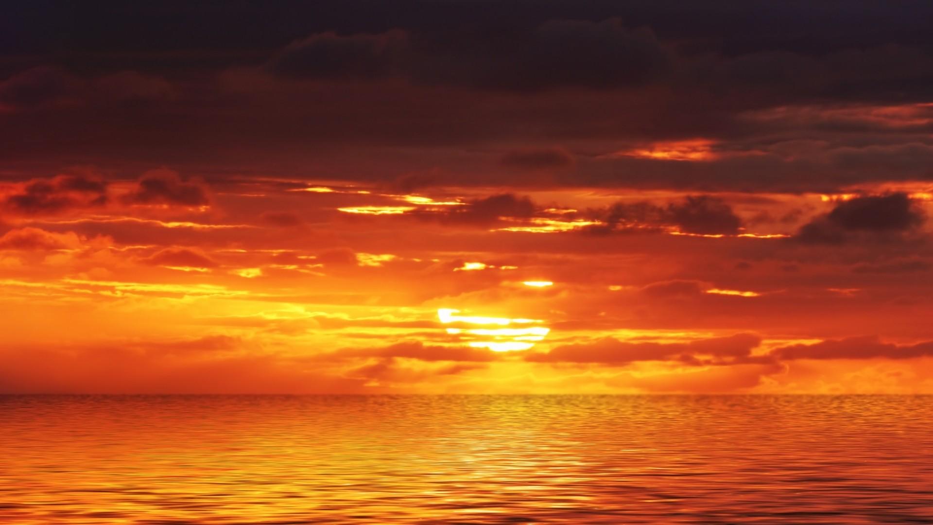 Orange Sunset Wallpaper-8