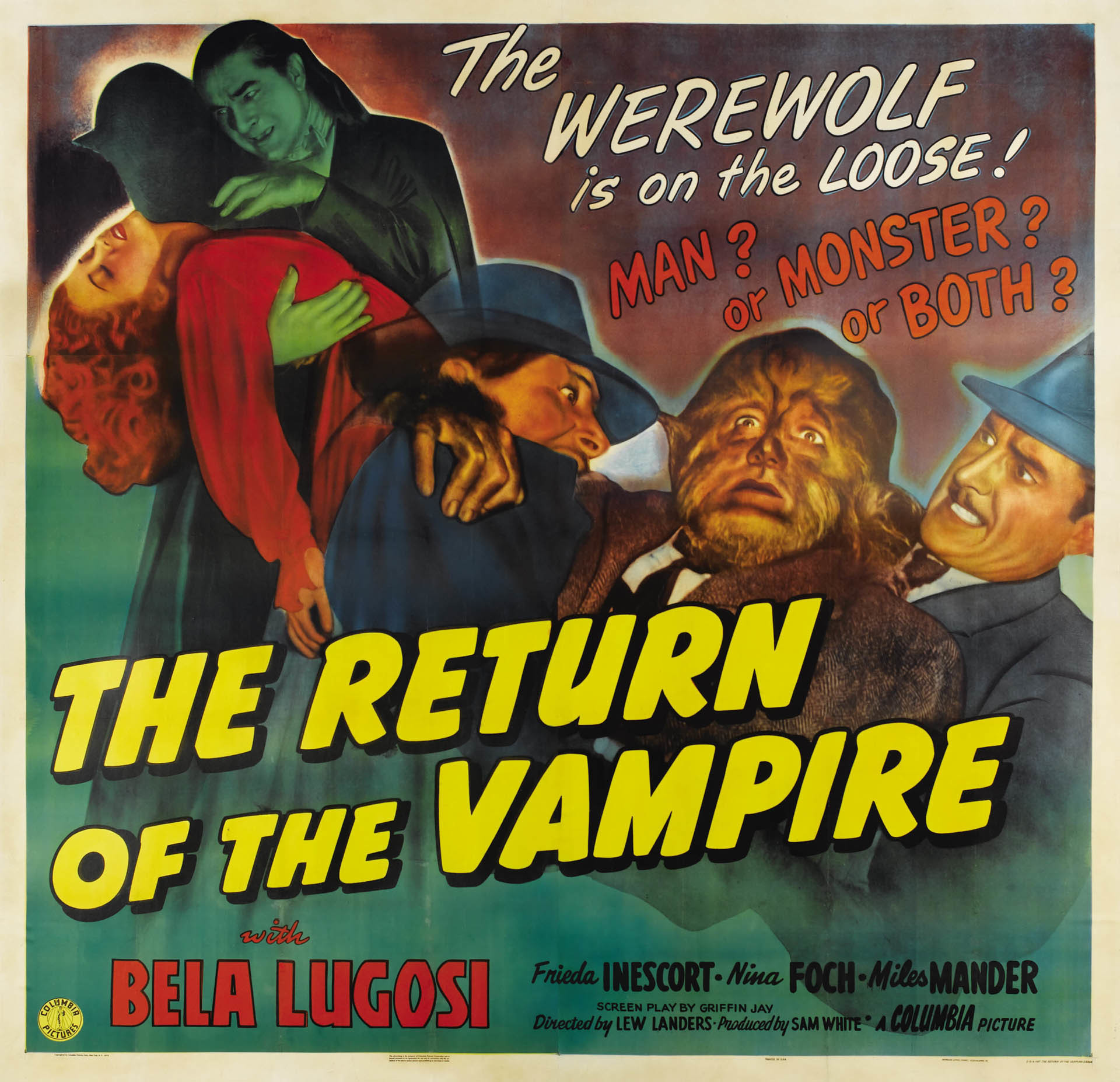 Free The Return Of The Vampire 1944 – Vintage Movie Posters Desktop  Wallpaper and Computer Background