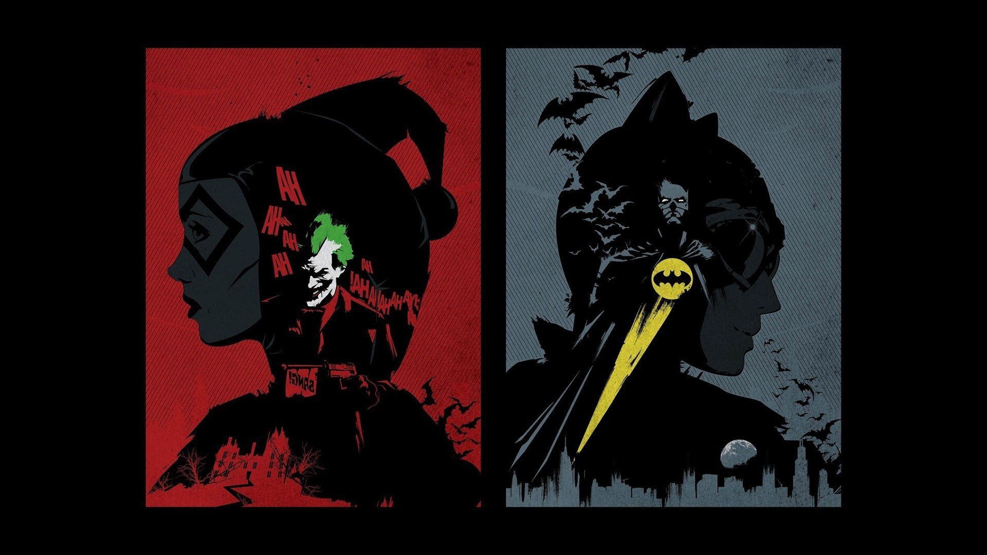 DC Comics, Batman, Catwoman, Harley Quinn Wallpapers HD / Desktop and  Mobile Backgrounds