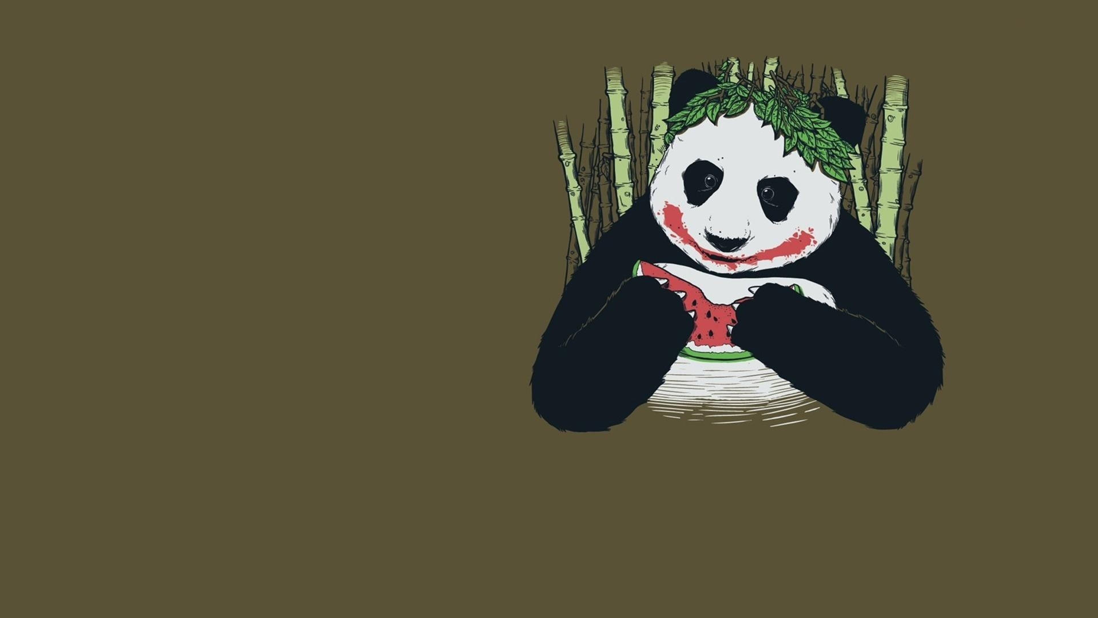 Preview wallpaper panda, joker, disguise 3840×2160
