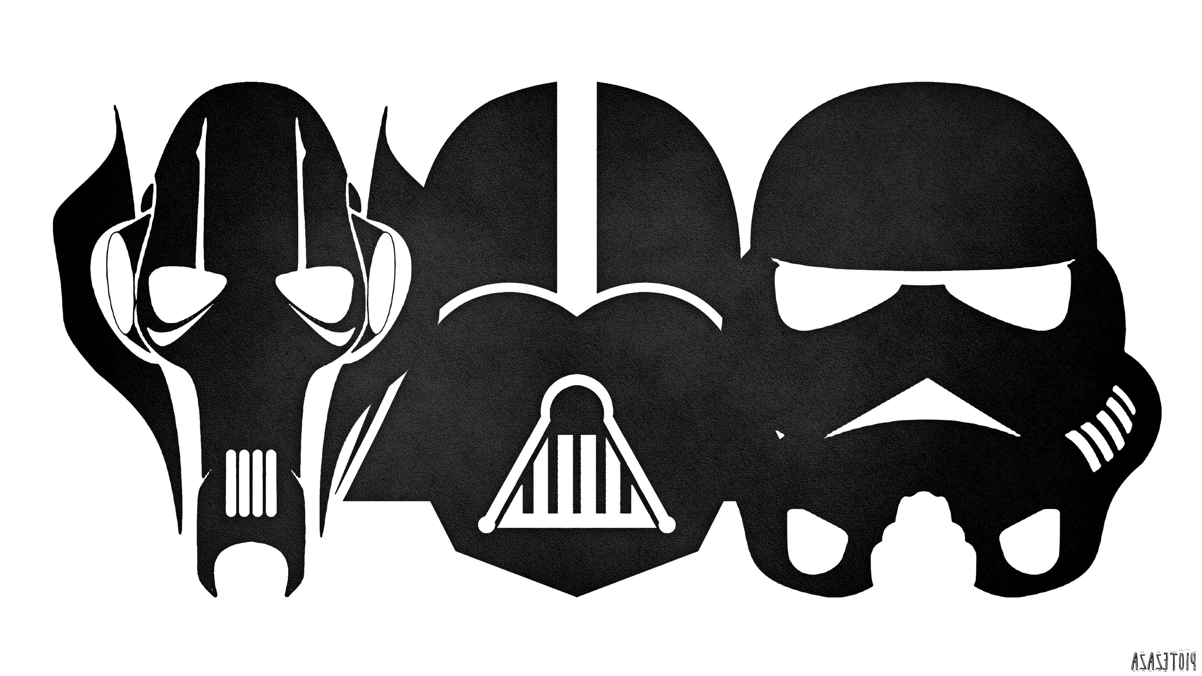 Darth Vader, Stormtrooper, Star Wars, Minimalism, Grievous, Colorful Wallpapers  HD / Desktop and Mobile Backgrounds