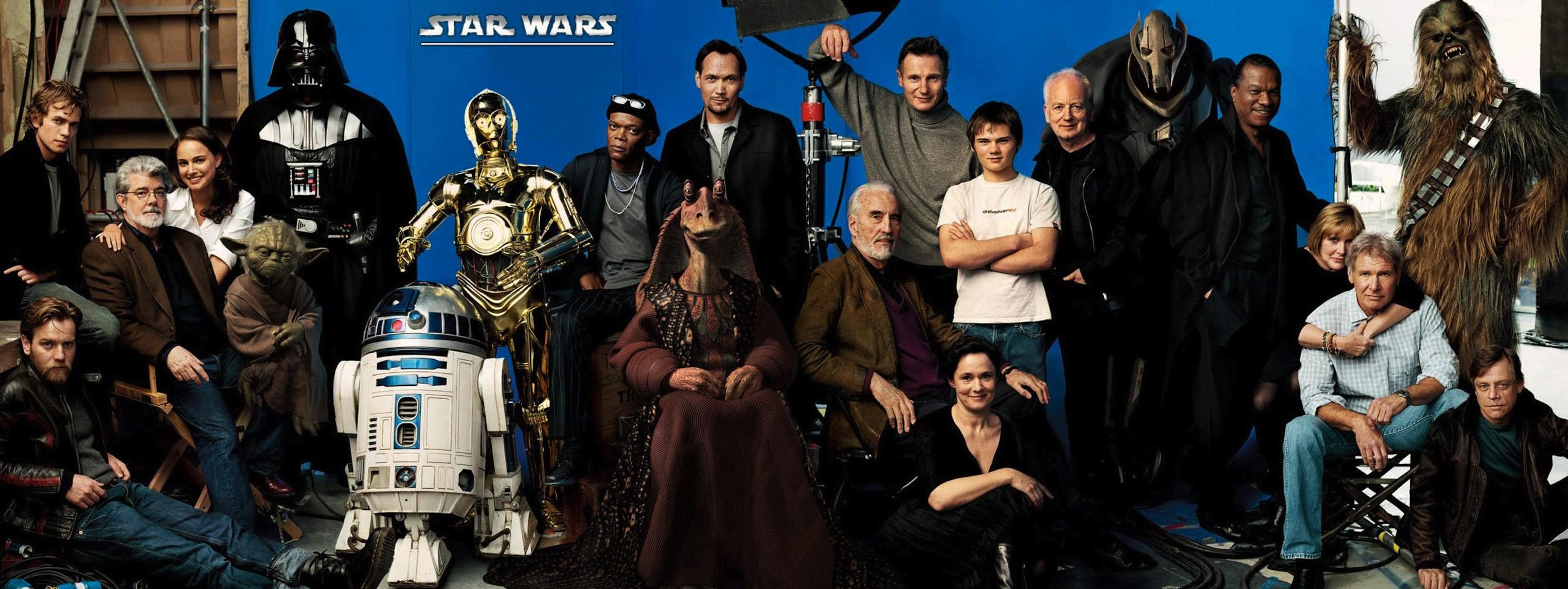 Movie – Star Wars George Lucas C-3PO Jar Jar Binks Harrison Ford R2-