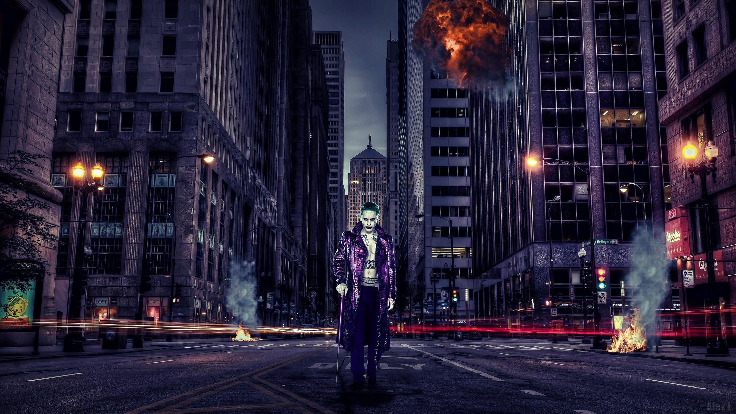 Suicide Squad Joker Wallpaper 2K by AlexLannister Suicide Squad Joker  Wallpaper 2K by AlexLannister