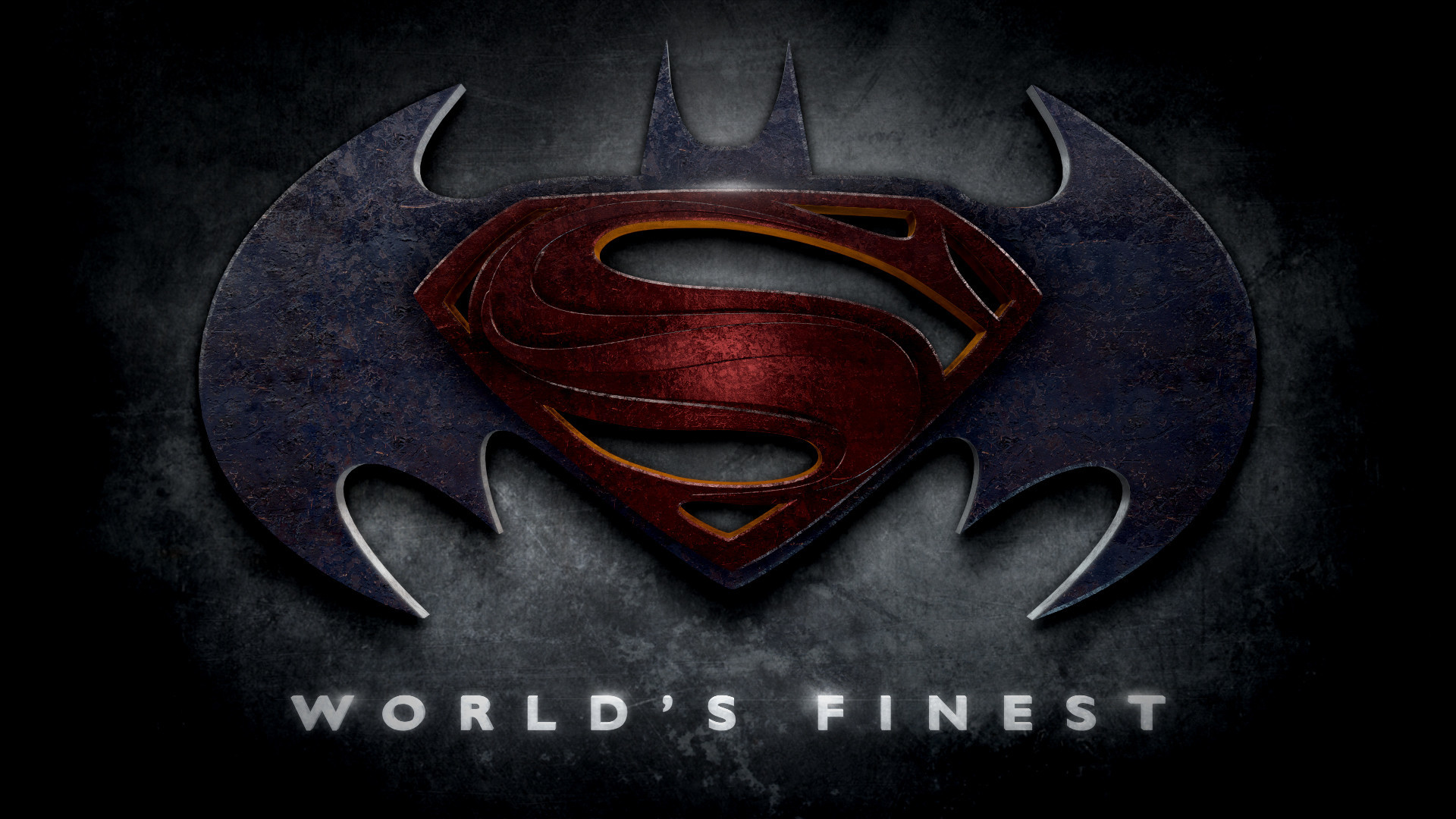 """Batman – Superman – Justice League Logos in the Style of """"Man of Steel"""""""
