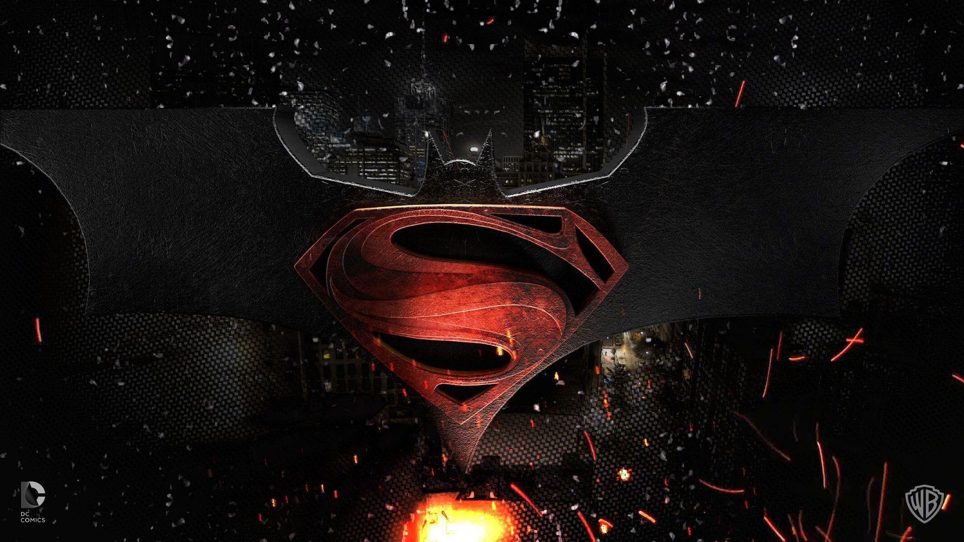 Gallery for – batman vs superman logo wallpaper