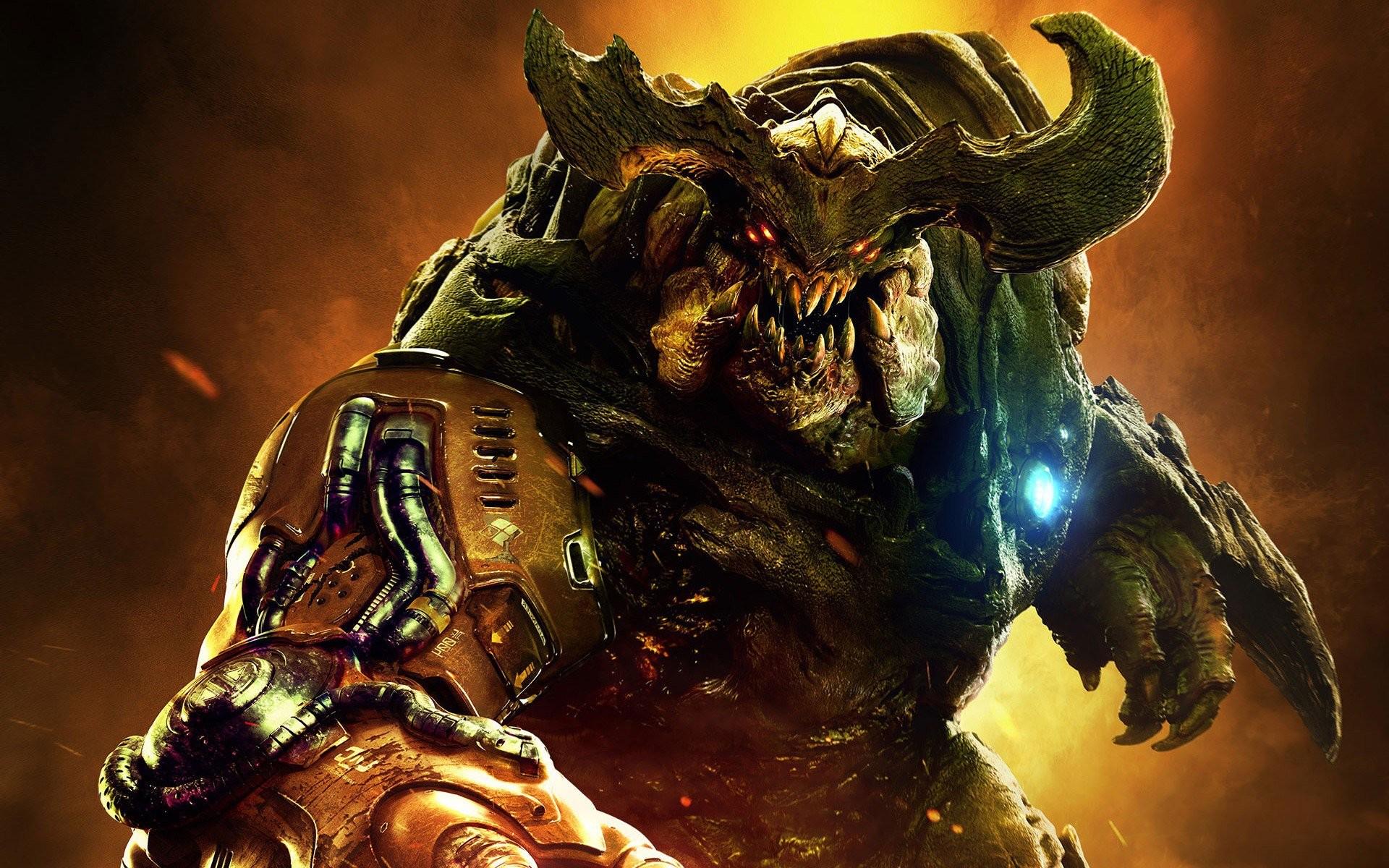 https://hdqwalls.com/wallpapers/doom-2016-monster.jpg   Horror   Pinterest    Game concept art, Game concept and Wallpaper