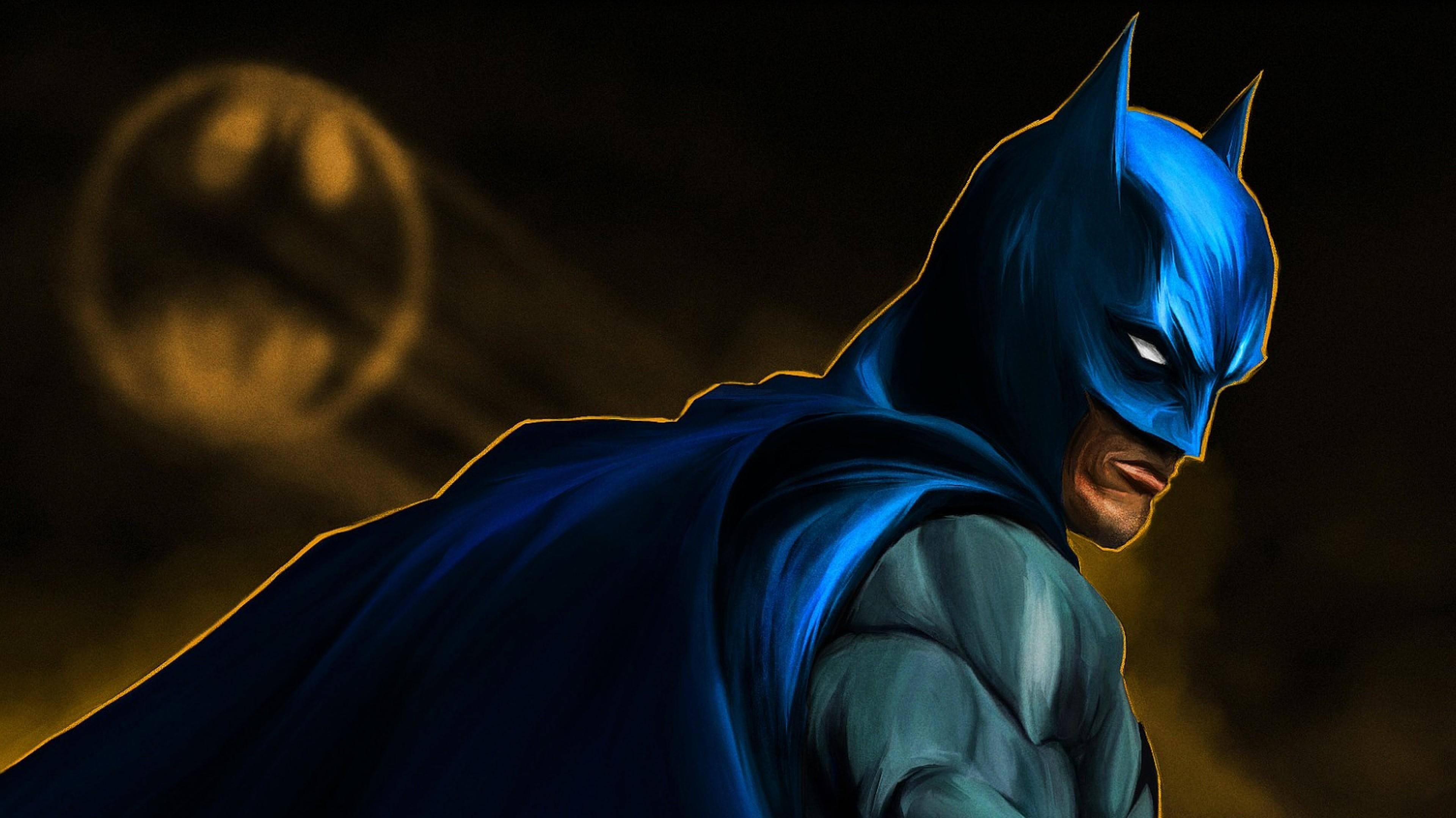 Wallpaper batman, bruce wayne, art, bat-signal