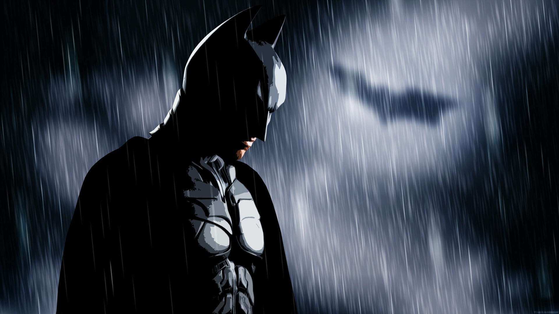 Batman, Bat Signal, Rain, MessenjahMatt, People Wallpapers HD / Desktop and  Mobile Backgrounds