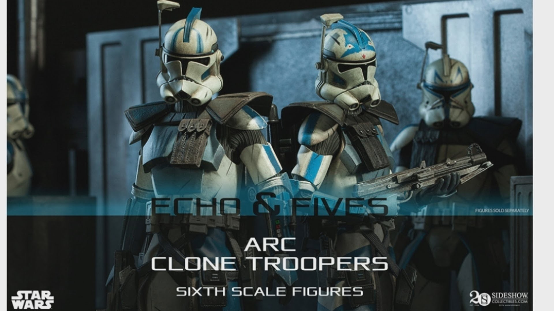 Sideshow 1/6 Scale Arc Trooper Fives and Echo Announced 2015! HD – YouTube