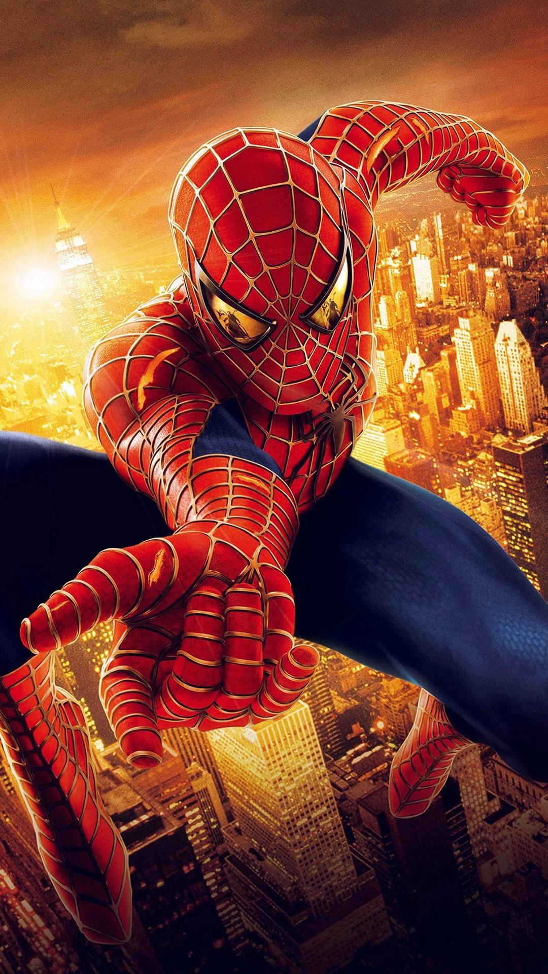 Spiderman Illust Art Hero Marvel iPhone 6 wallpaper