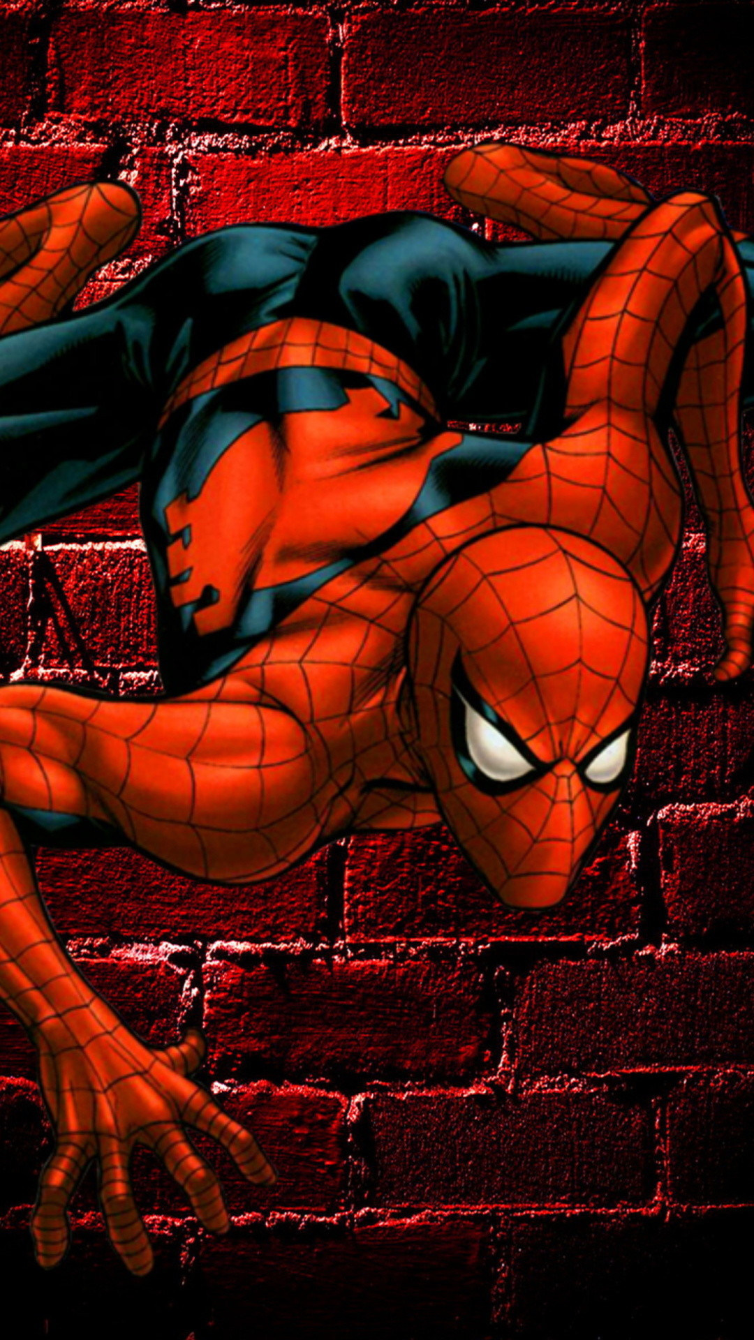 Spiderman On The Wall – Tap to see awesome spider man wallpapers! – @mobile9