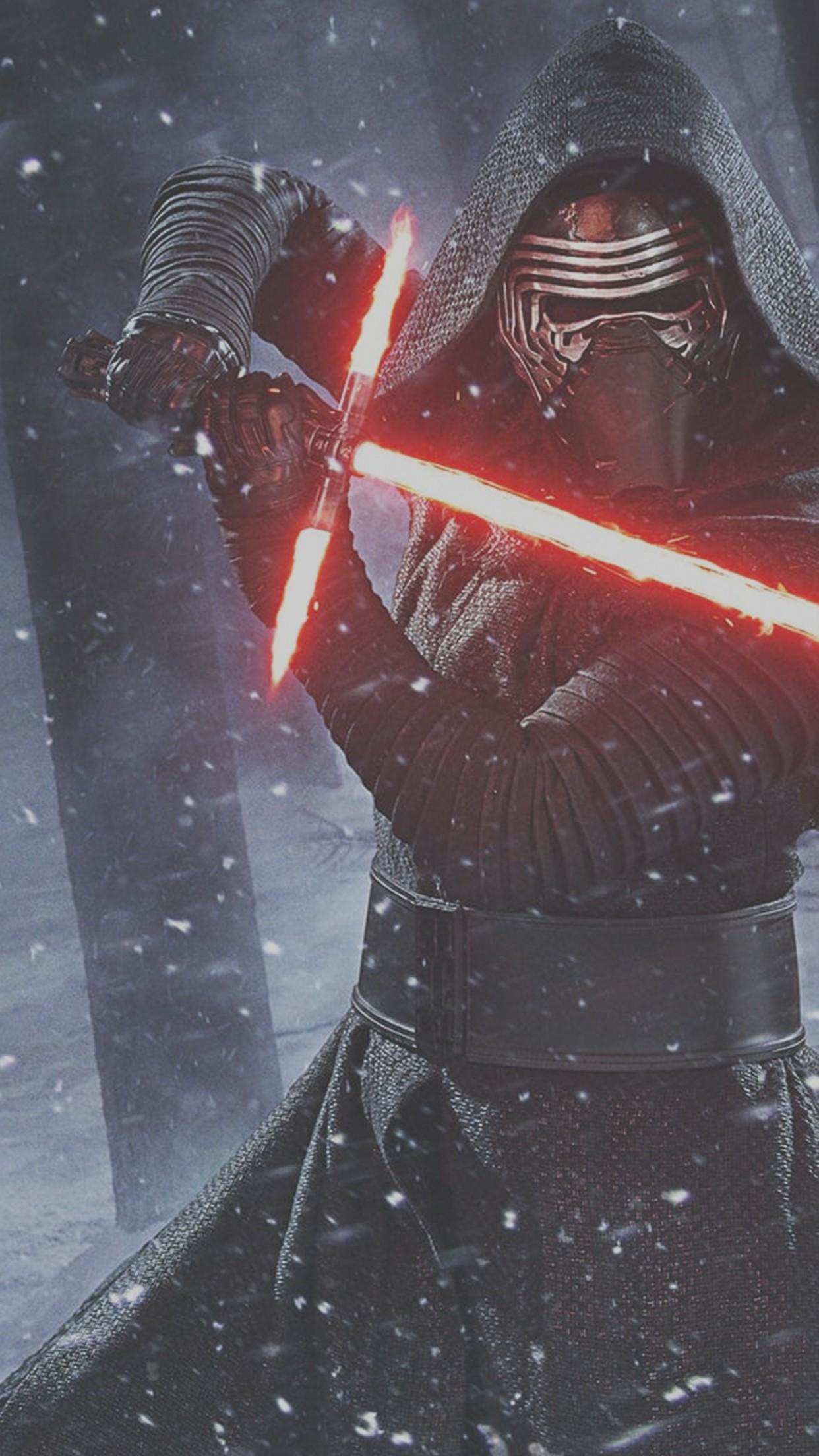 … Star Wars Iphone Wallpaper Star Wars The Force Awakens Kylo Ren  Lightsaber Wallpaper iDeviceArt …