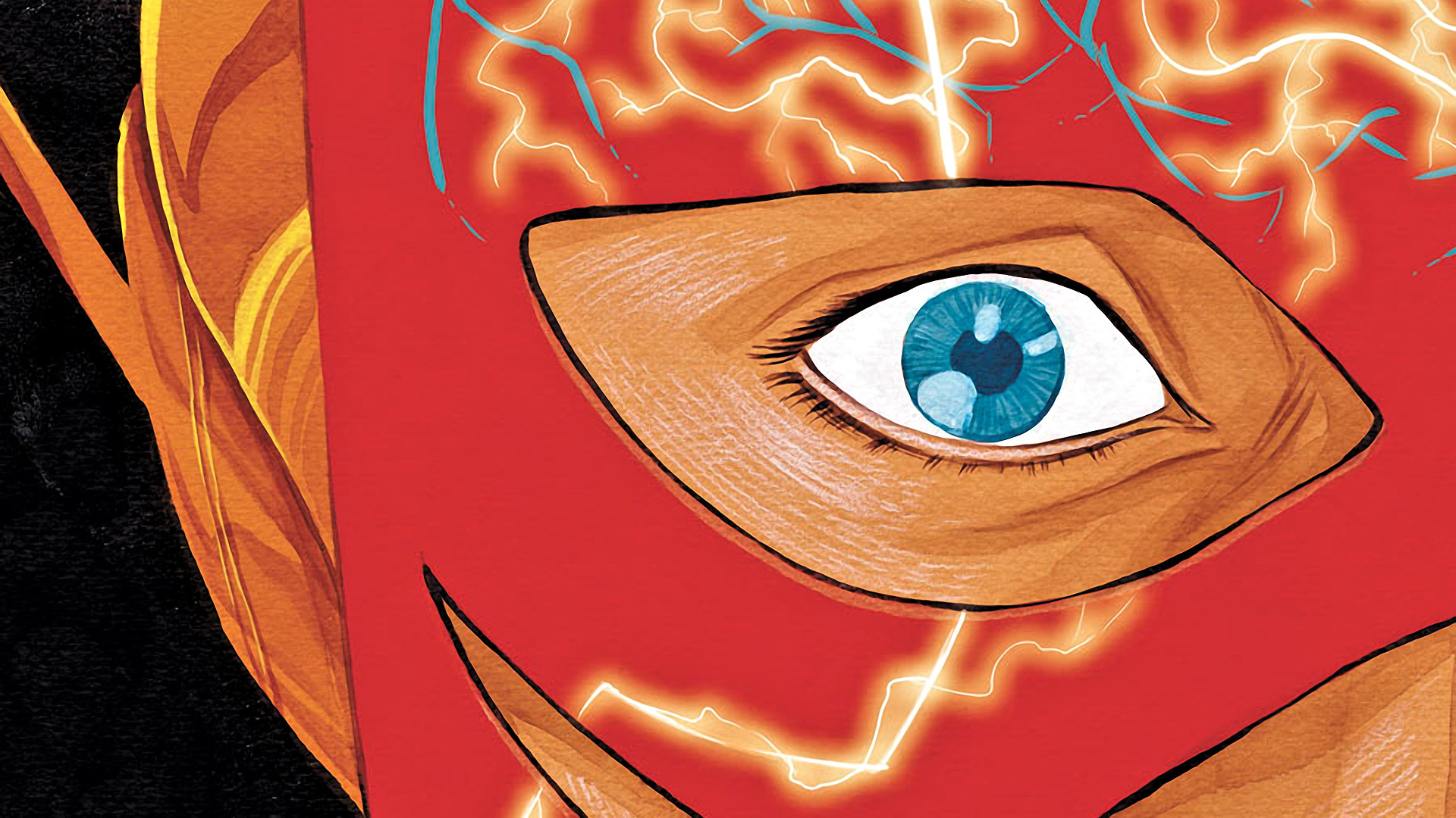Preview wallpaper flash, the flash, wally west, dc comics 1920×1080