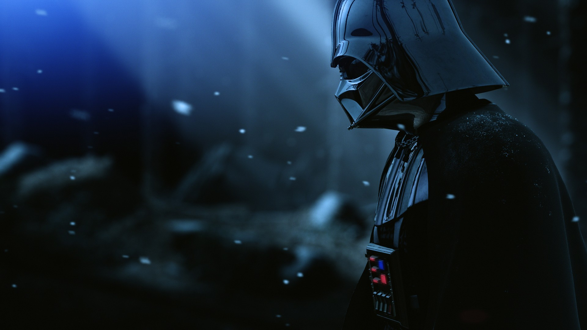 General anime Darth Vader villain anime Jedi evil armor movies  Star Wars blurred digital art