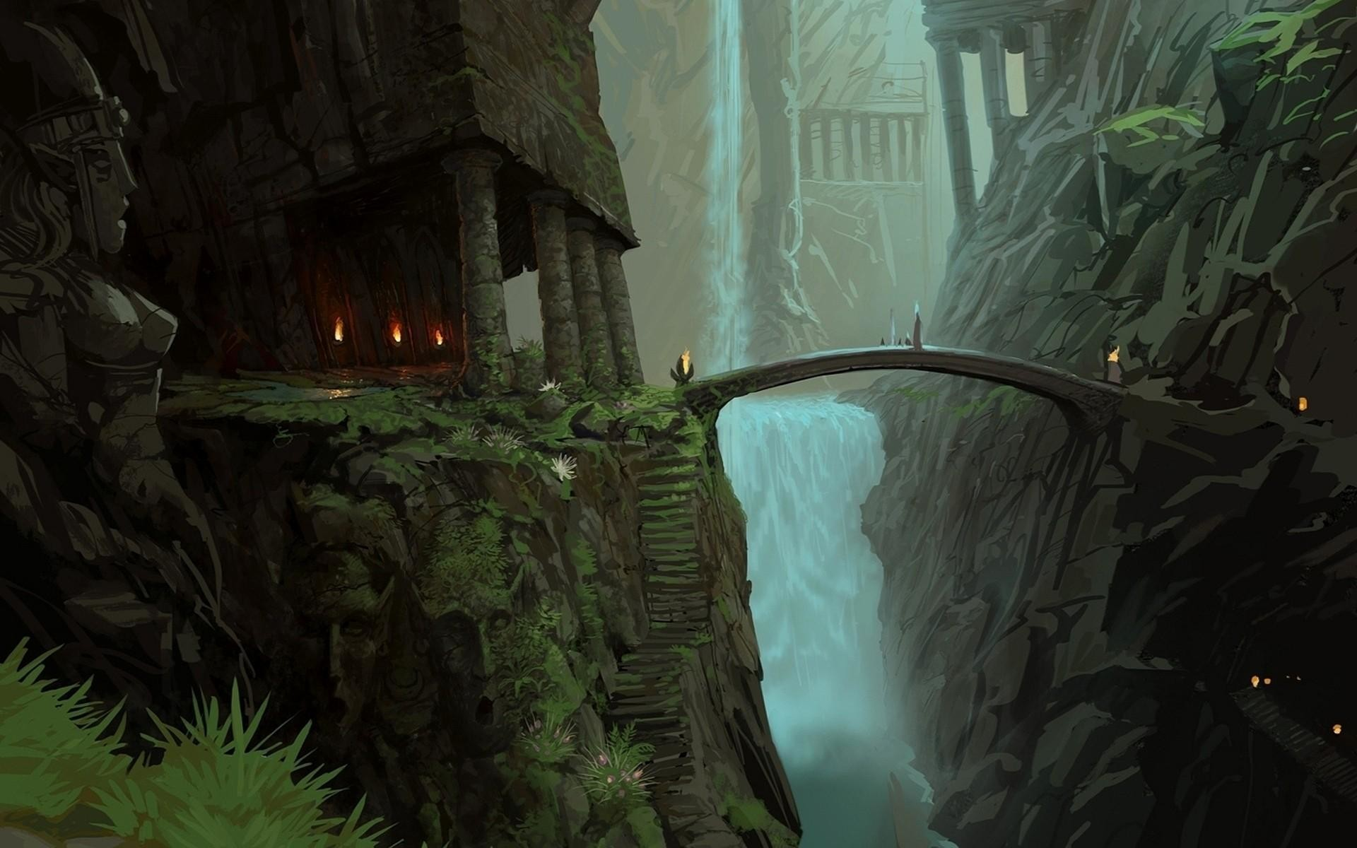 The-Lord-of-the-Rings-bridges-fantasy-art-