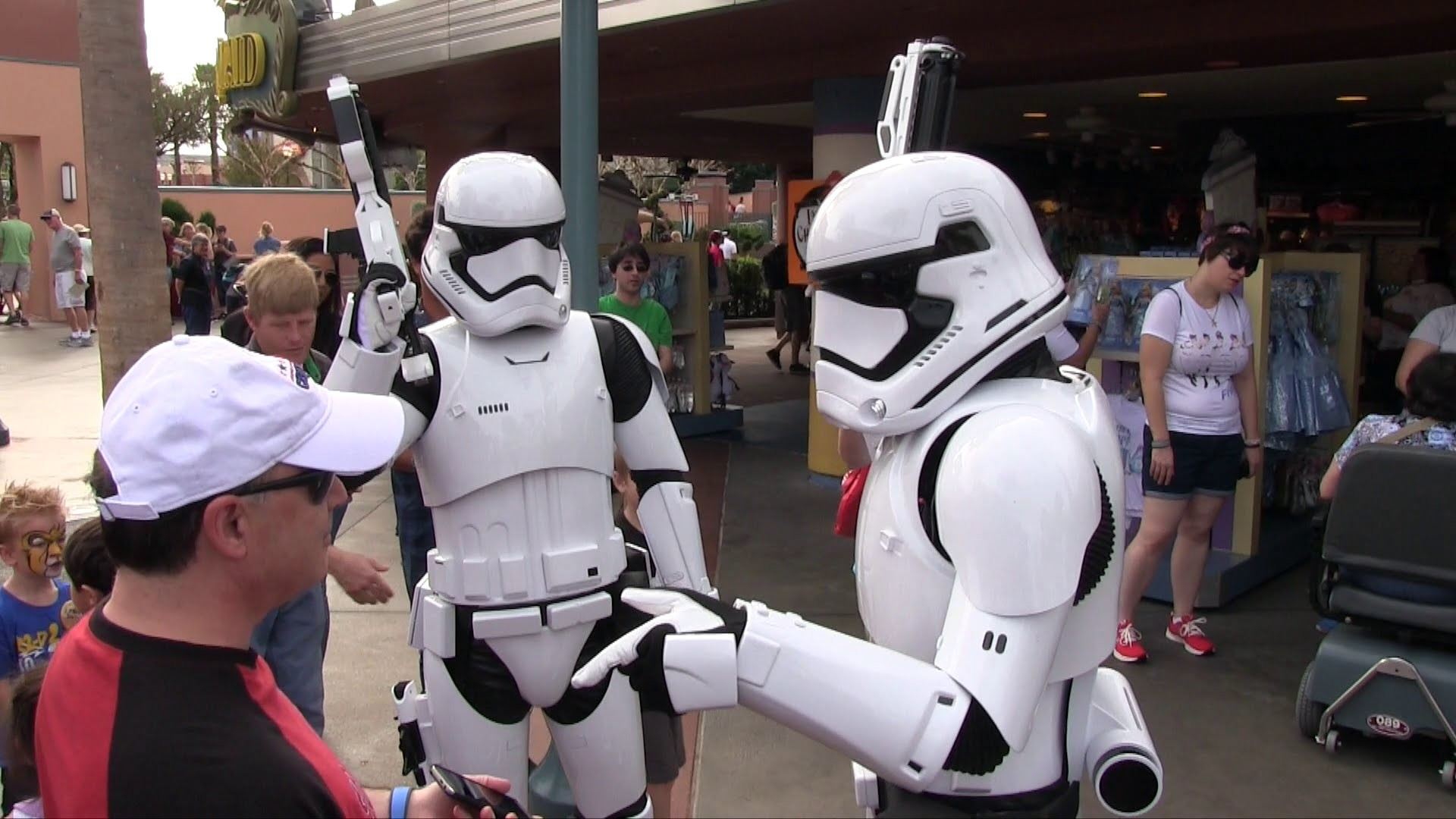 First Order Stormtroopers from Force Awakens patrol outside Star Wars  Launch Bay – YouTube