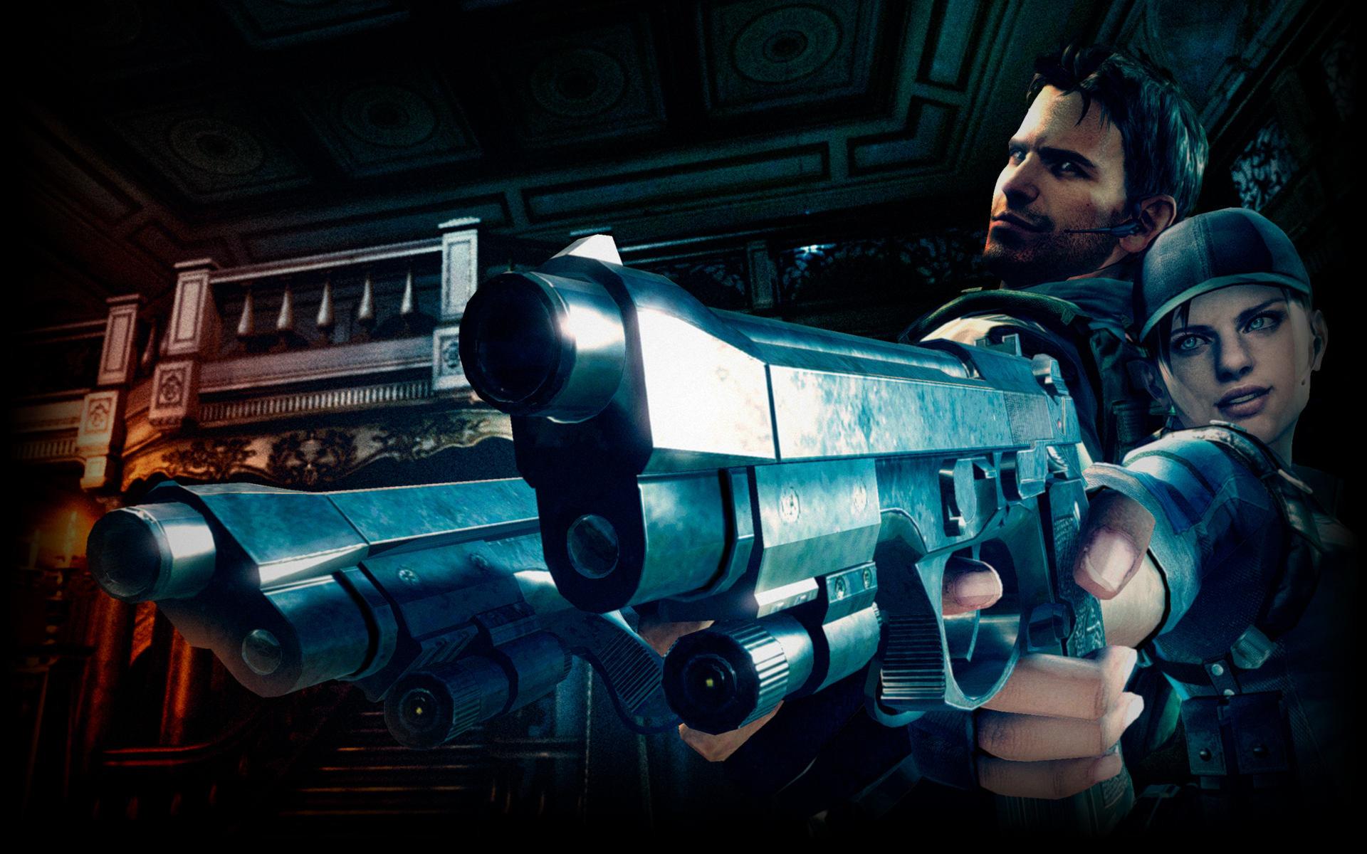 Resident Evil 5 karatasi la kupamba ukuta titled Chris and Jill