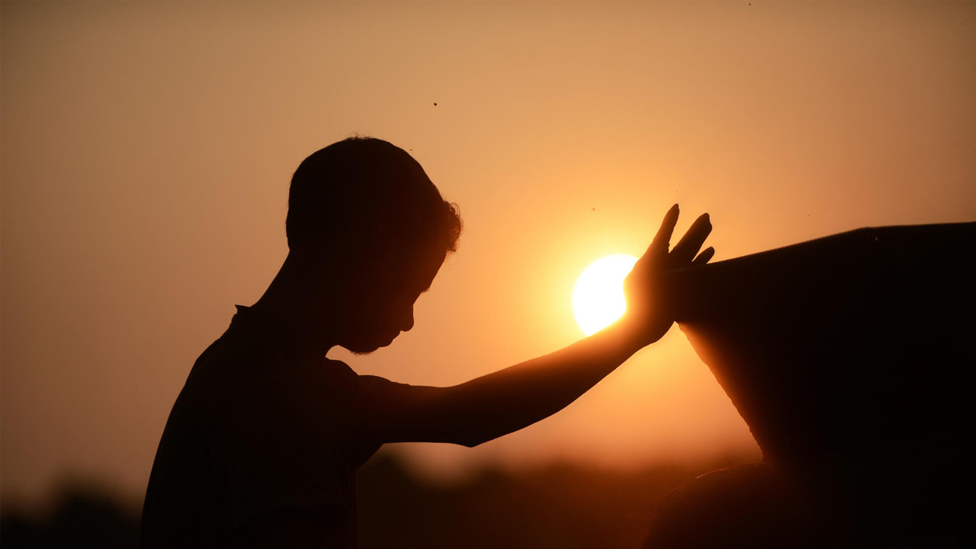Wallpaper: Kids Prayer Sunset HD Wallpaper. Upload at October 16, 2014 .