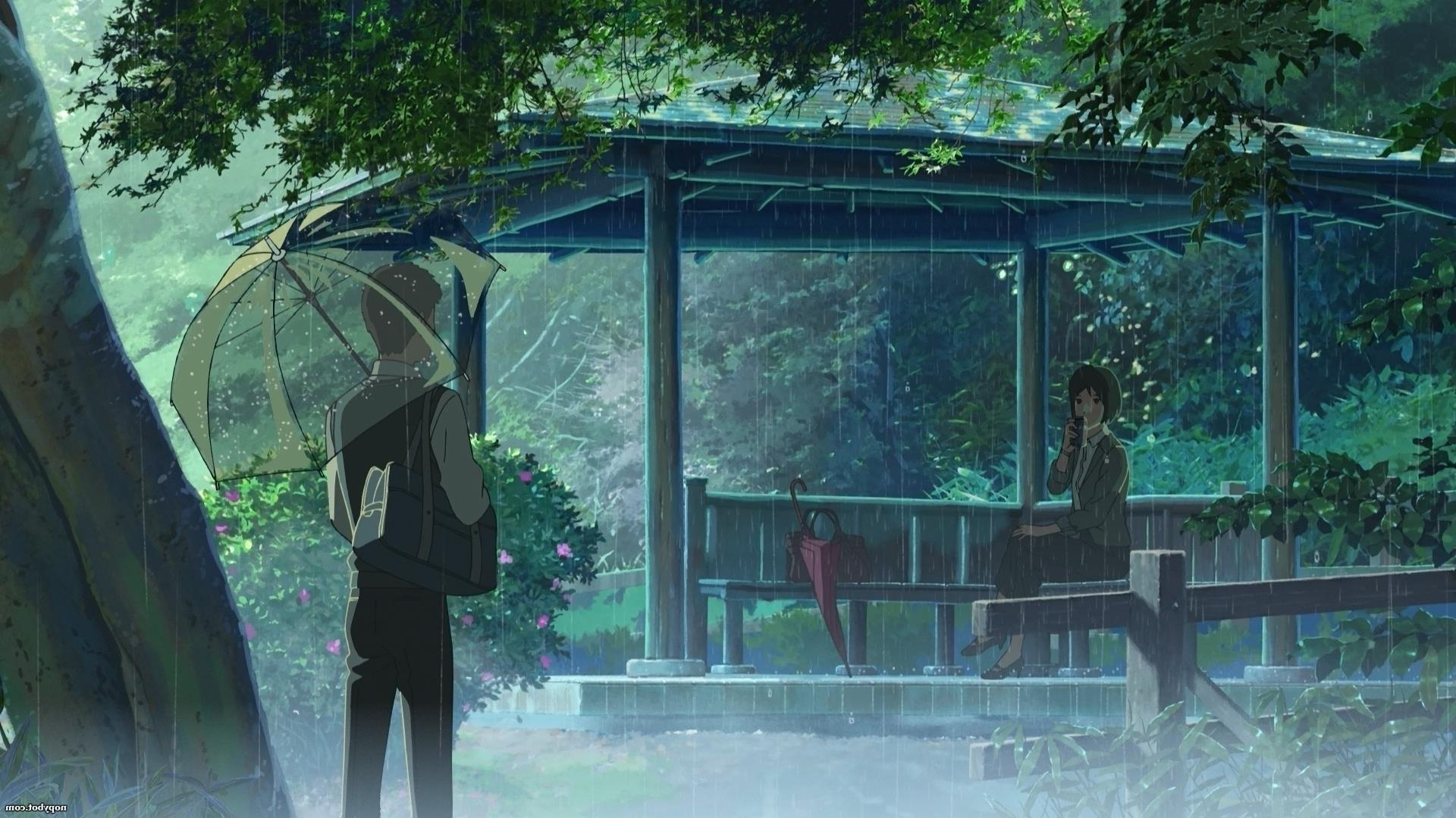 rain, The Garden Of Words, Makoto Shinkai Wallpapers HD / Desktop and  Mobile Backgrounds