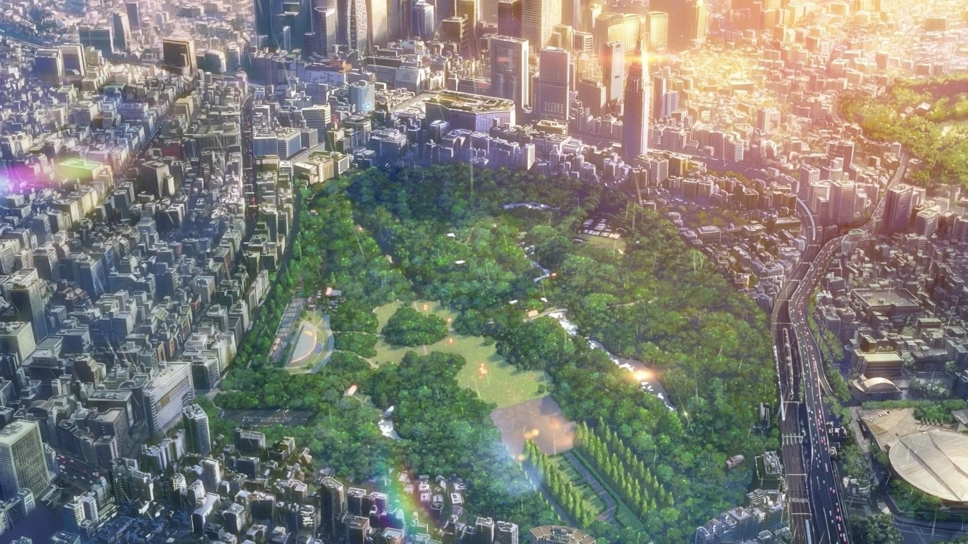 city, The Garden Of Words, Makoto Shinkai Wallpapers HD / Desktop and  Mobile Backgrounds