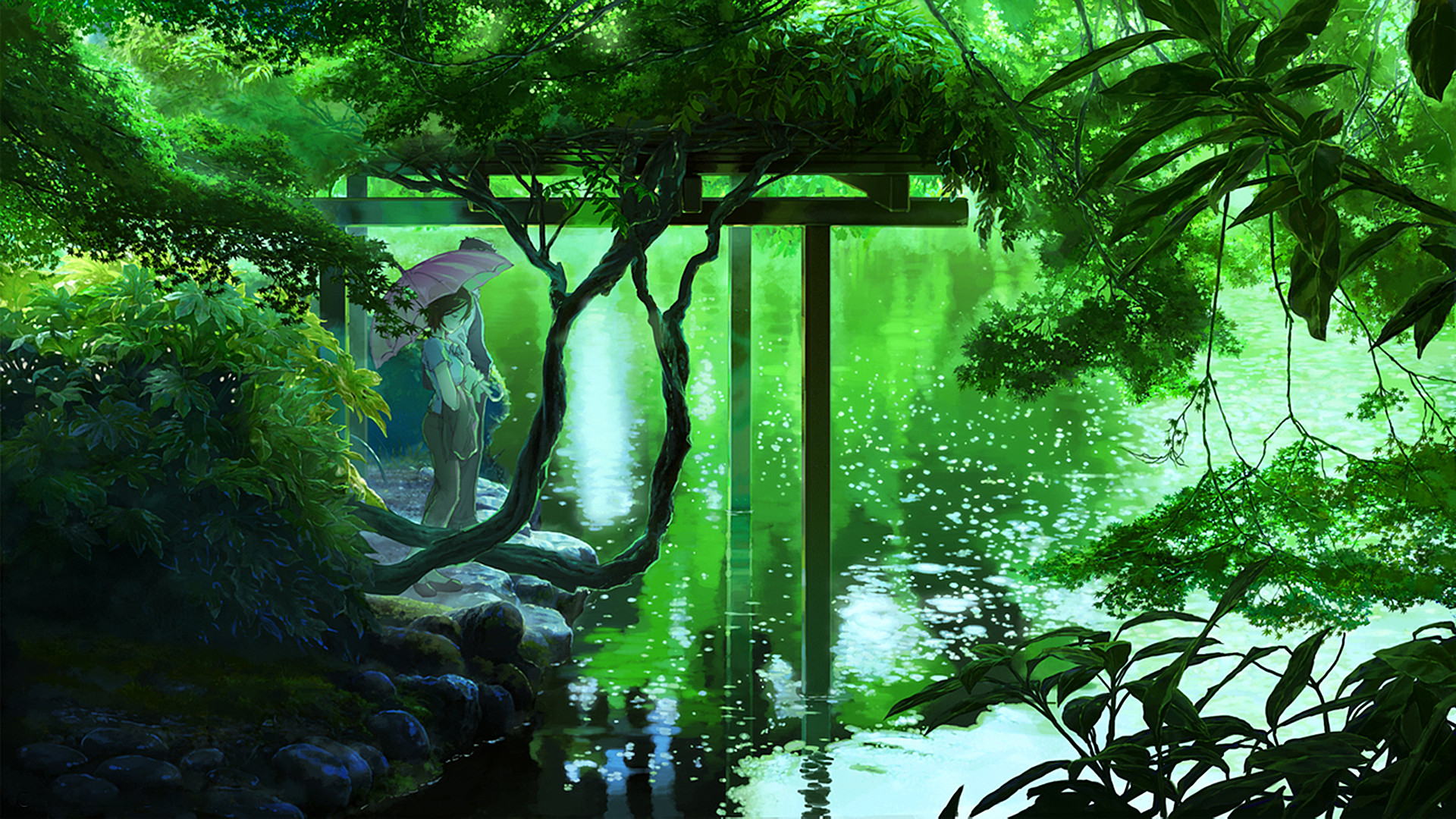 #lakes, #plants, #umbrellas, #forests, #The Garden of