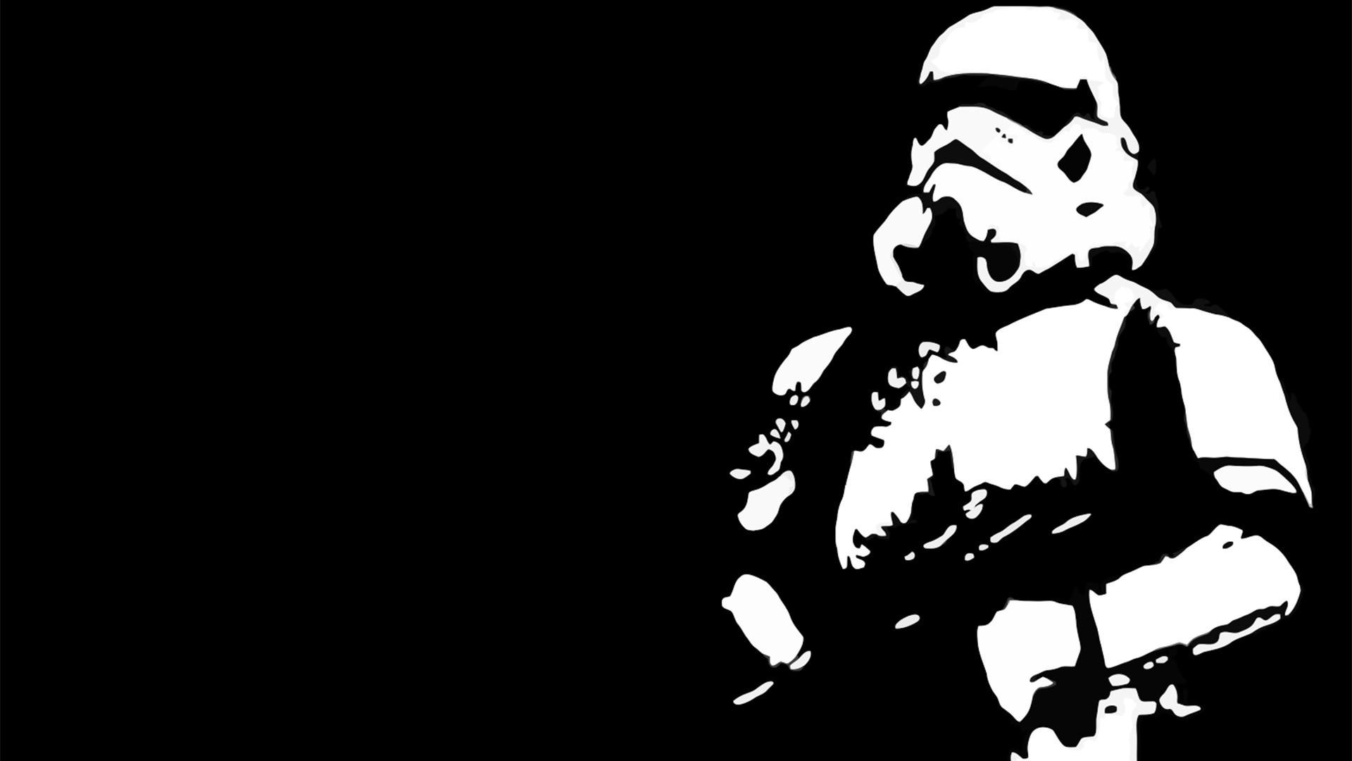 Star Wars Stormtrooper Star Wars Logo Wallpaper Hd