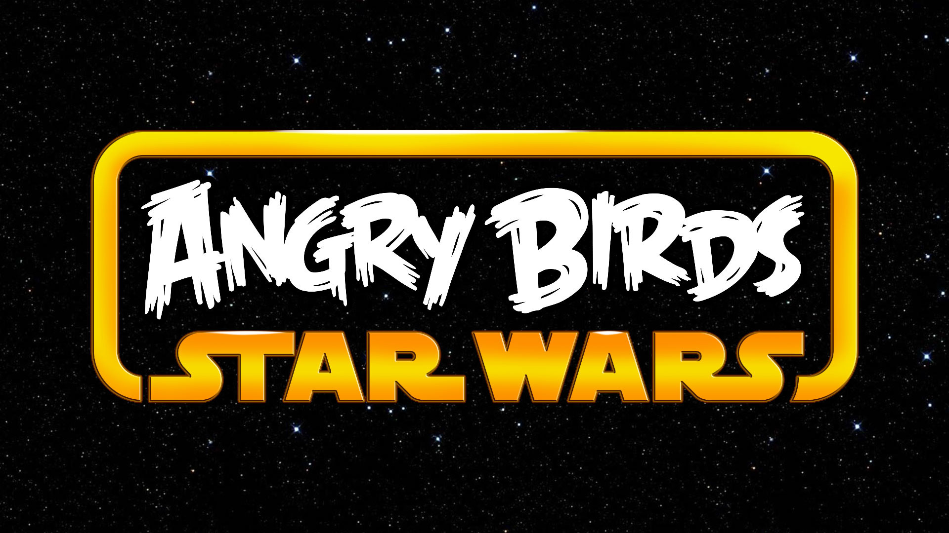 Angry Birds Star Wars Logo, Space Background wallpaper