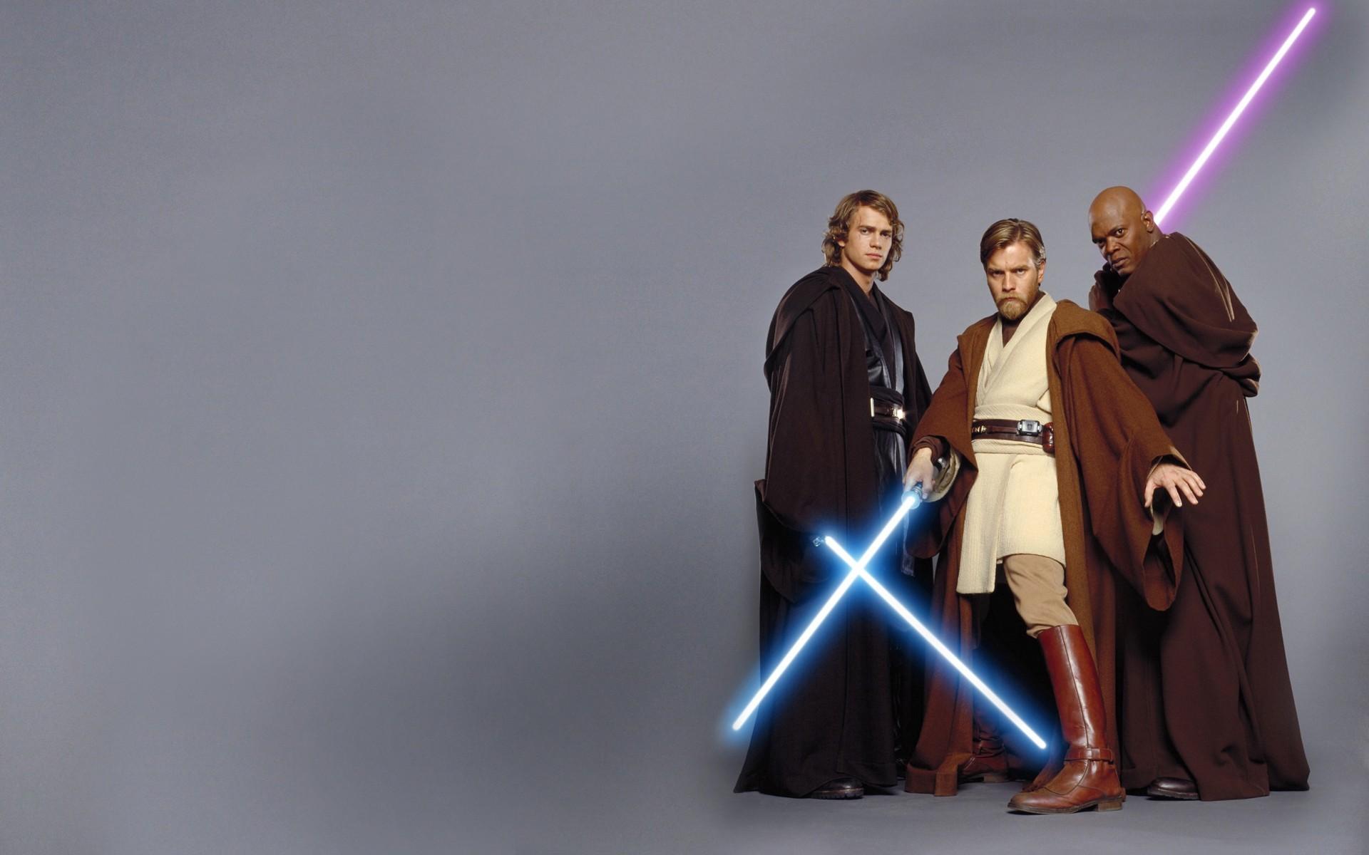 wallpaper Star Wars · lightsabers · Anakin Skywalker · Obi-Wan Kenobi