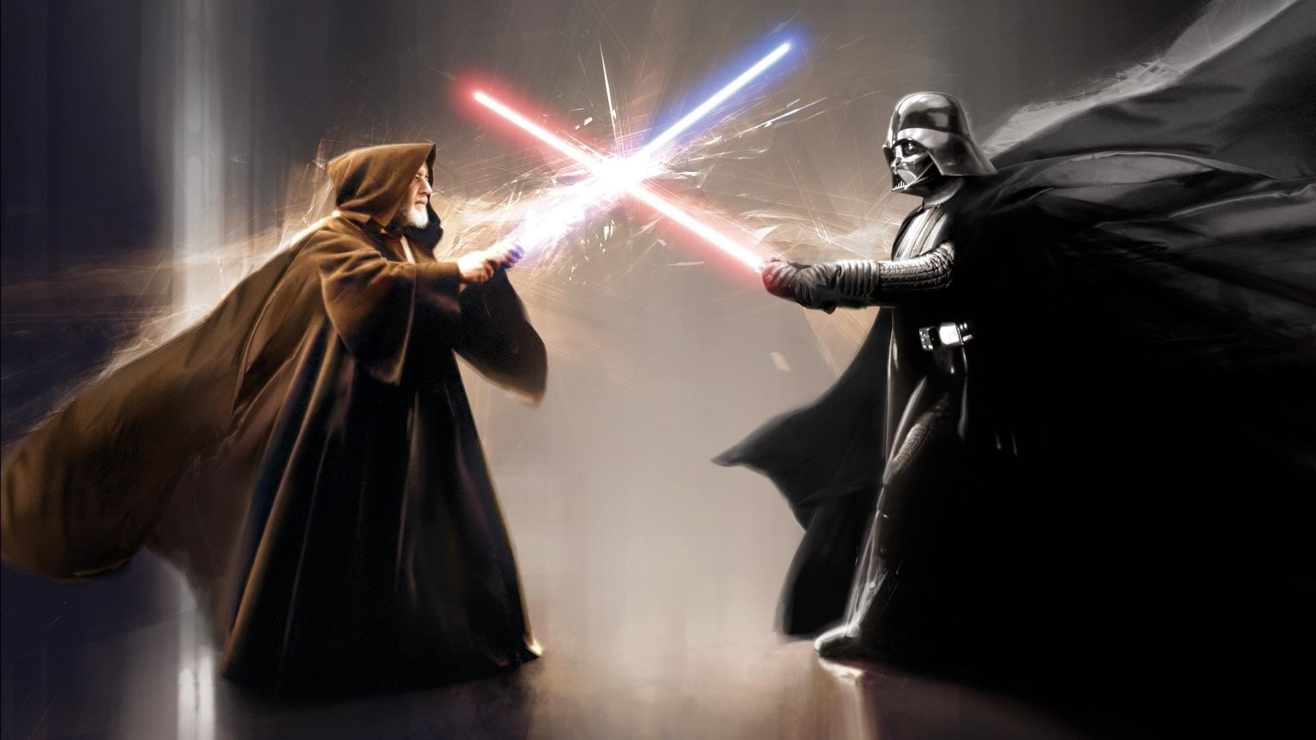 Star Wars, Darth Vader, Obi Wan Kenobi, Lightsaber, Artwork Wallpapers HD /  Desktop and Mobile Backgrounds